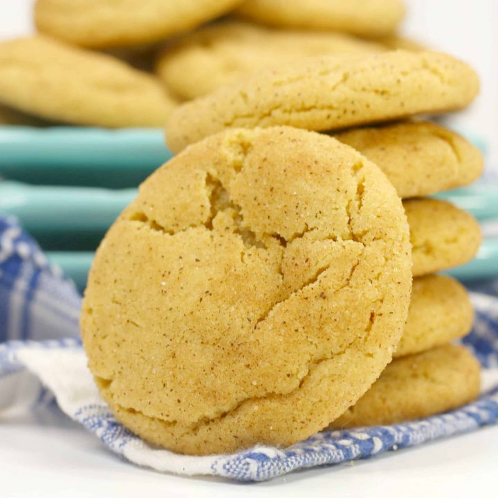 Peanut Butter Easy Snickerdoodle Cookies