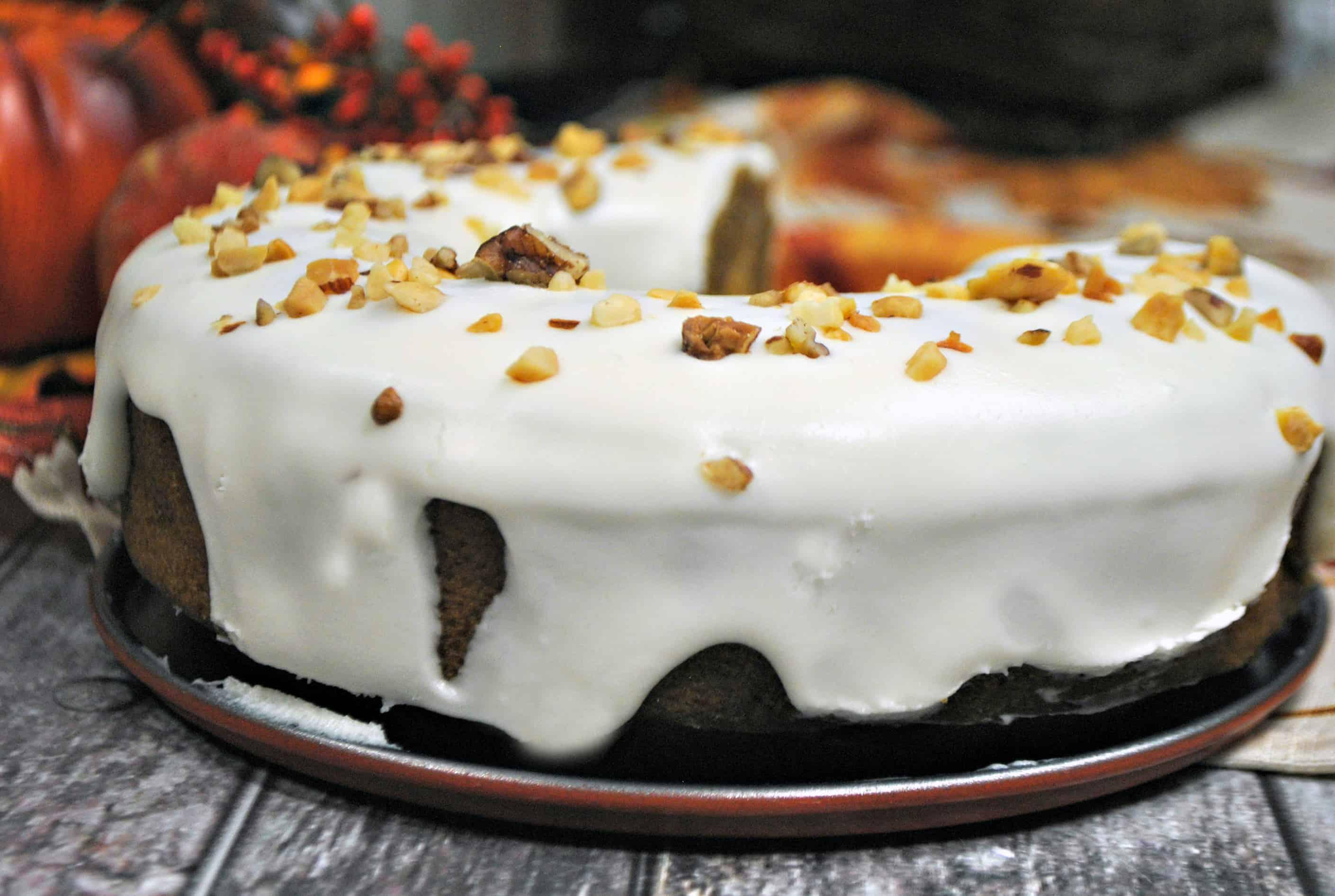 Pumpkin Apple Instant Pot Cake Recipe