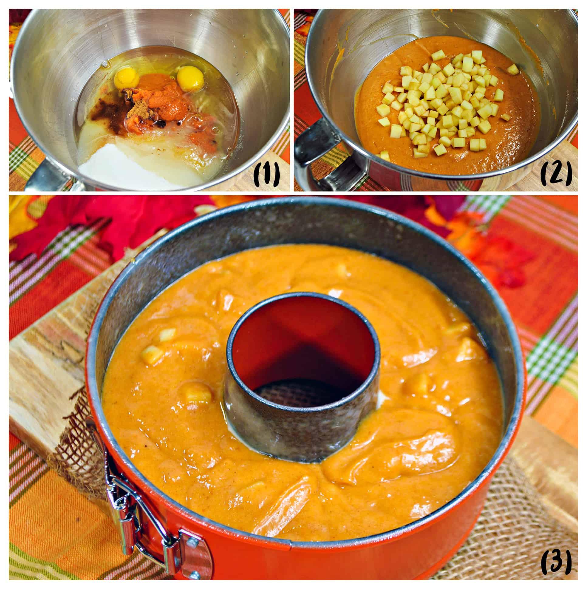 how to make pumpkin apple instant pot cake