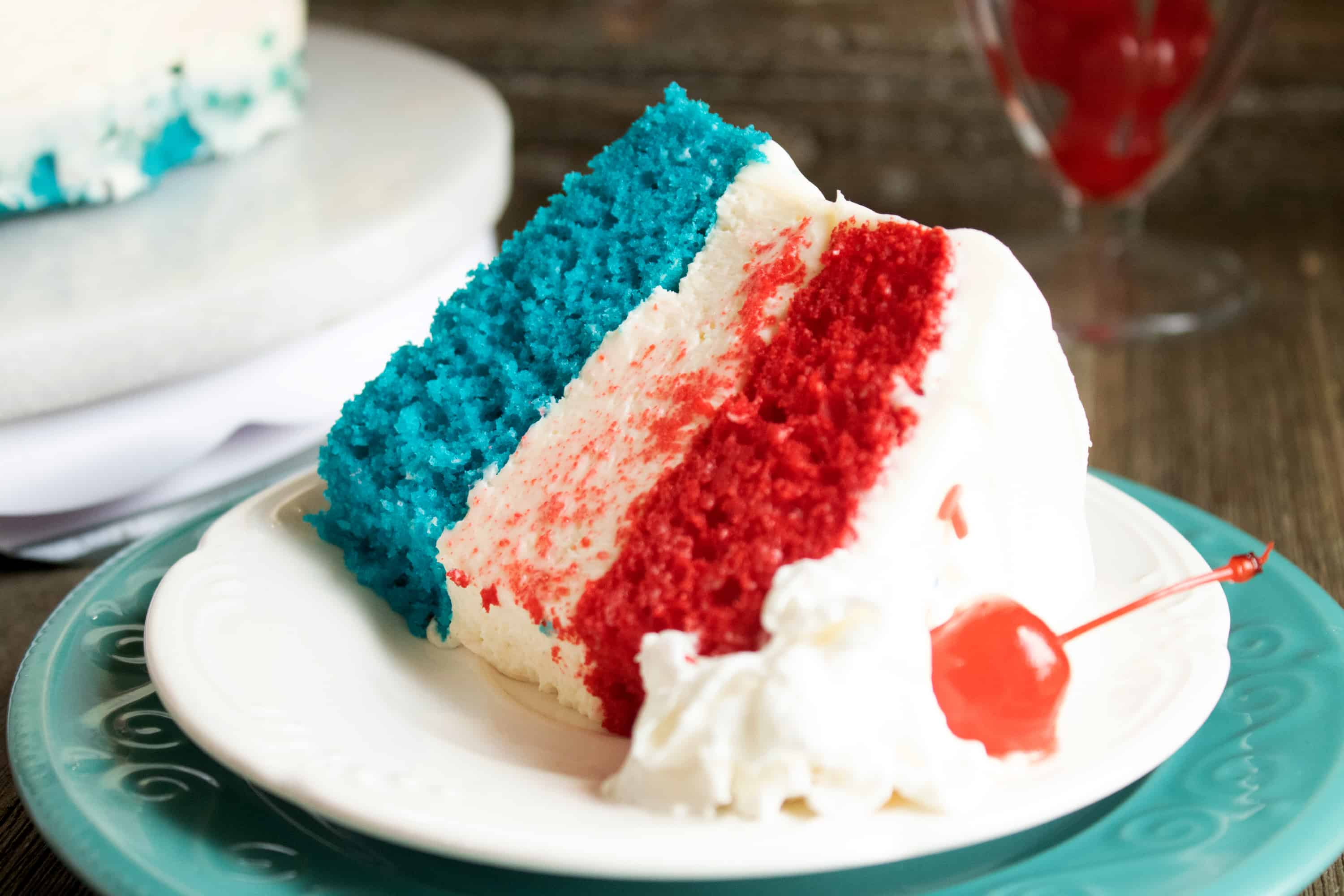 easy red, white and blue cake