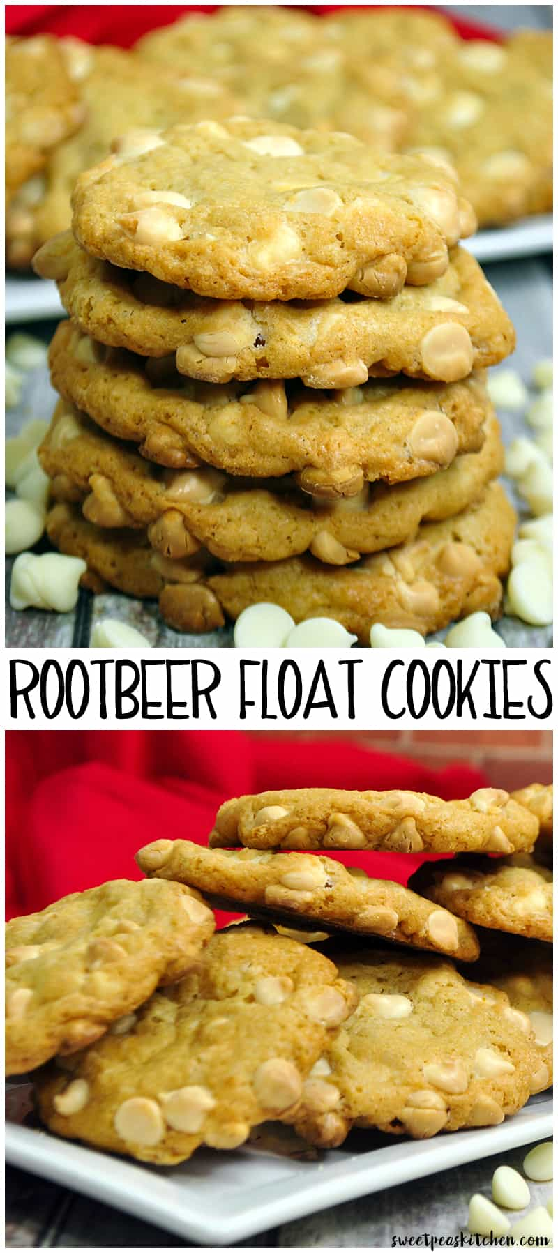 Root Beer Float White Chocolate Chip Cookies
