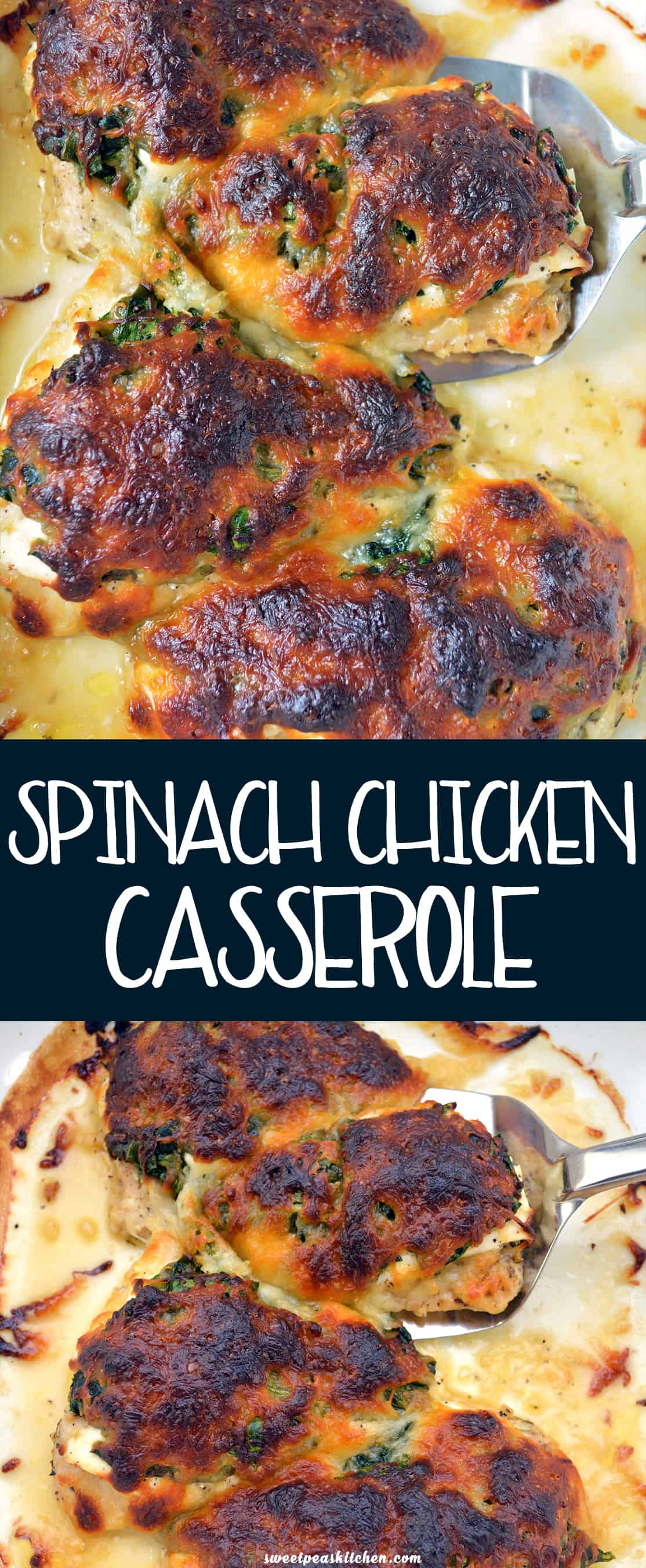 Easy Chicken Casserole with Spinach