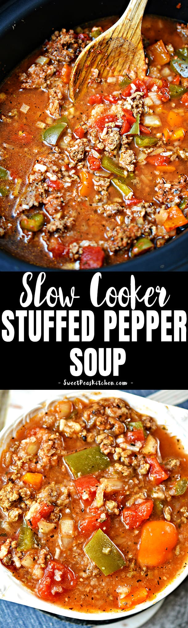 Stuffed Pepper Soup in the Slow Cooker