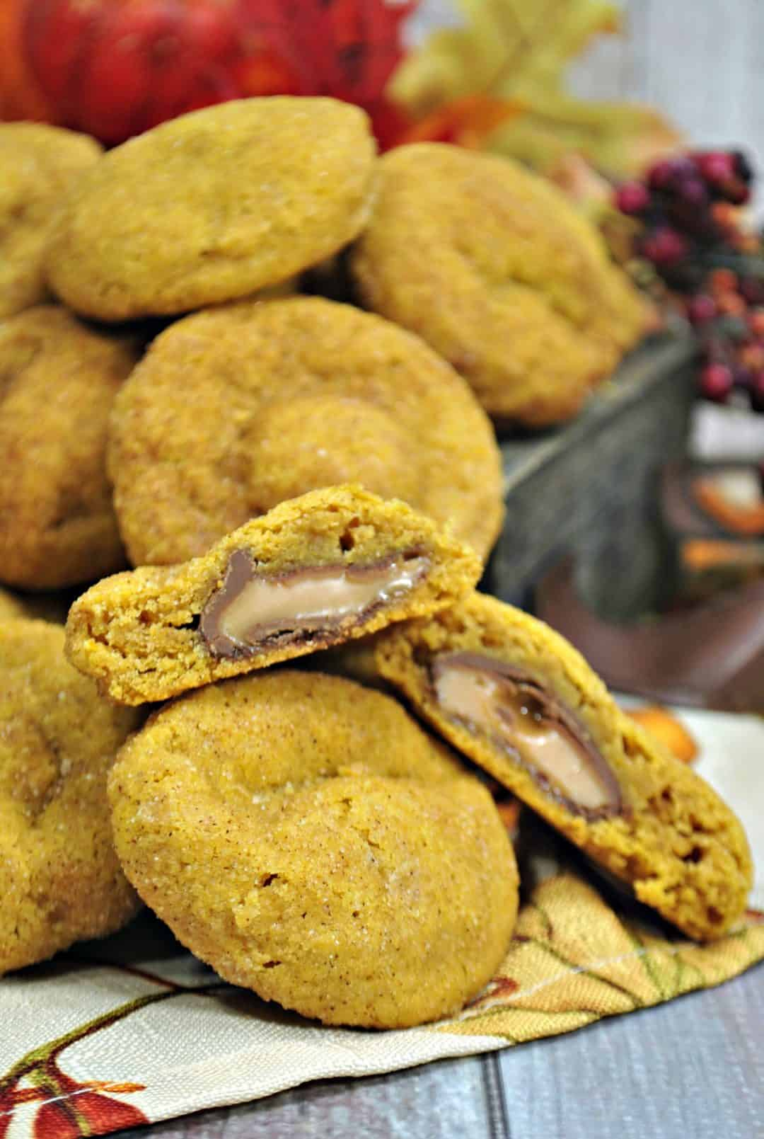 Stuffed Pumpkin Rolo Cookie Recipe