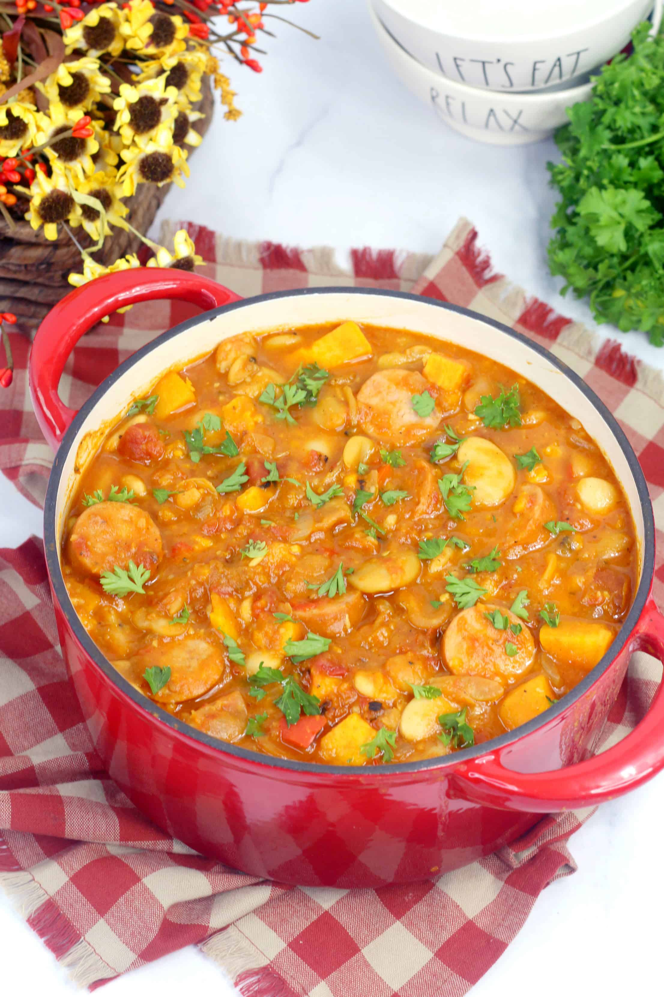 sweet potato stew in a pot