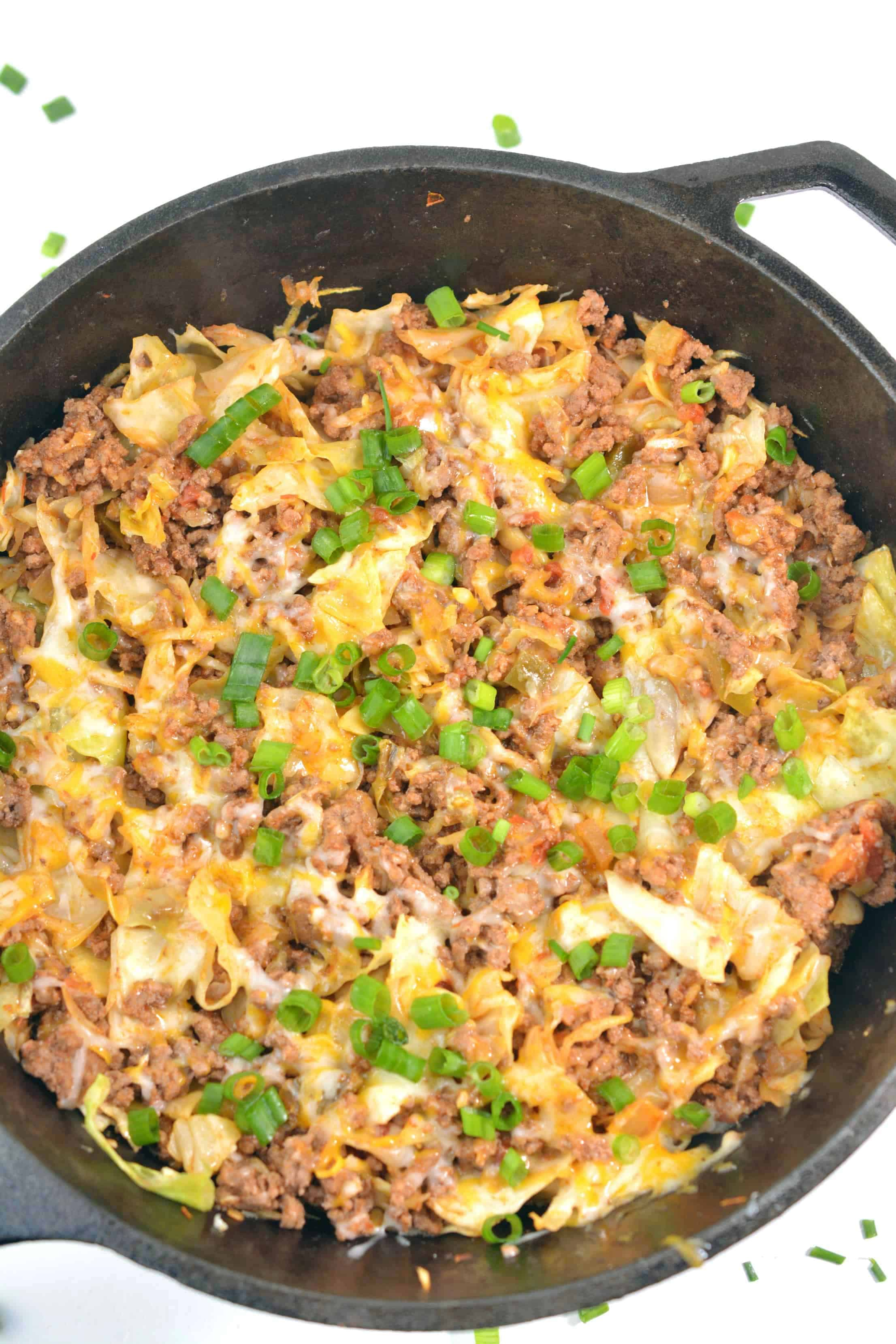 Taco Ground Beef and Cabbage Skillet Meal