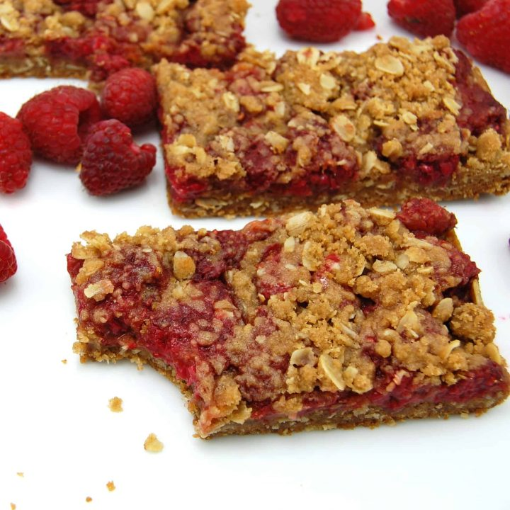 Raspberry Crumb Breakfast Bars