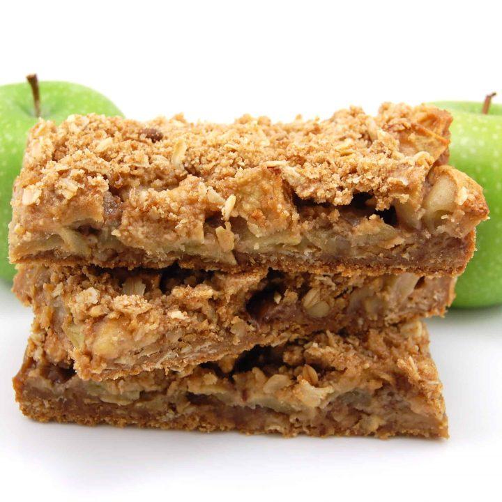 Apple Walnut Crumb Bars