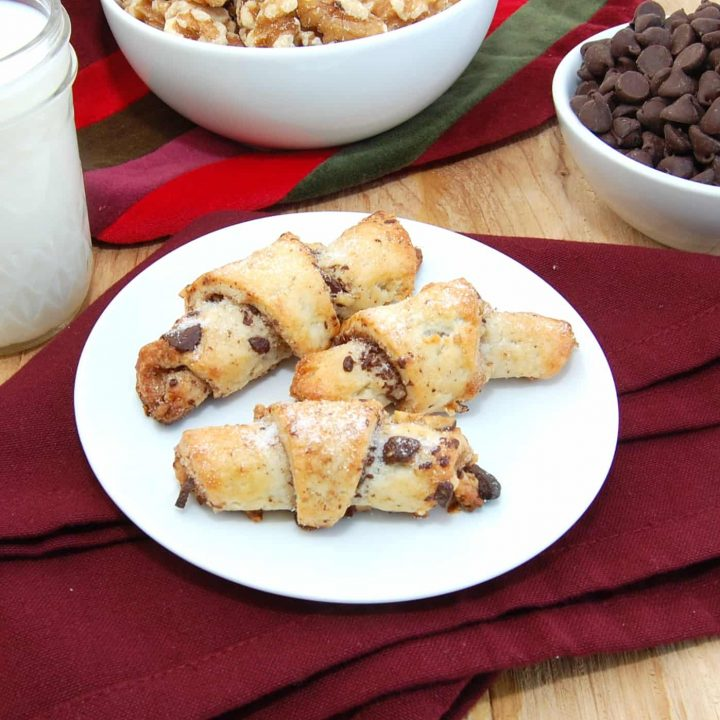 Rugelach with Chocolate Walnut Filling