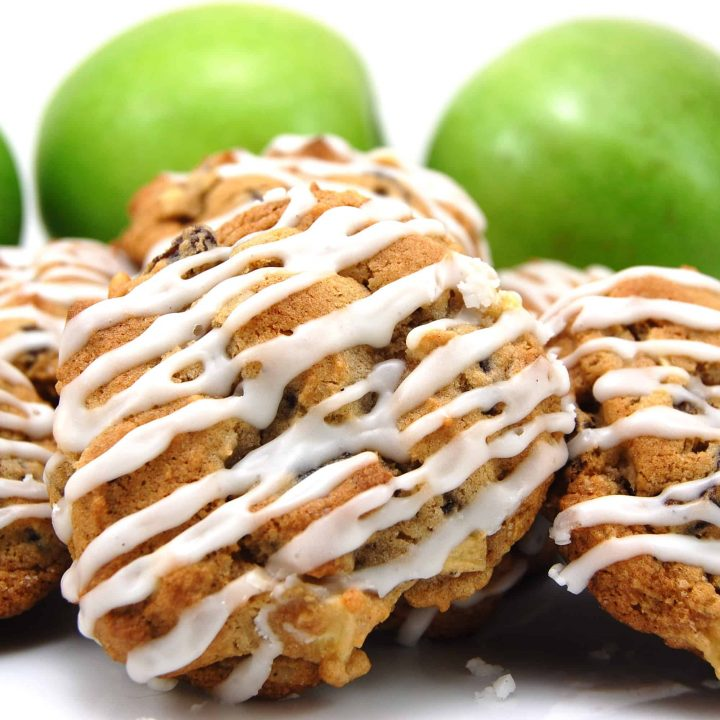Vanilla Glazed Apple Cookies