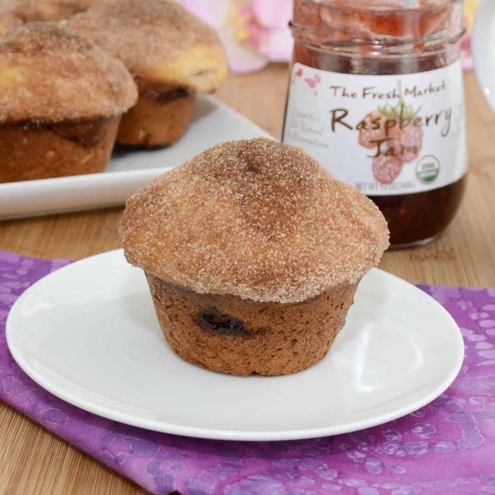 Raspberry Almond Muffins