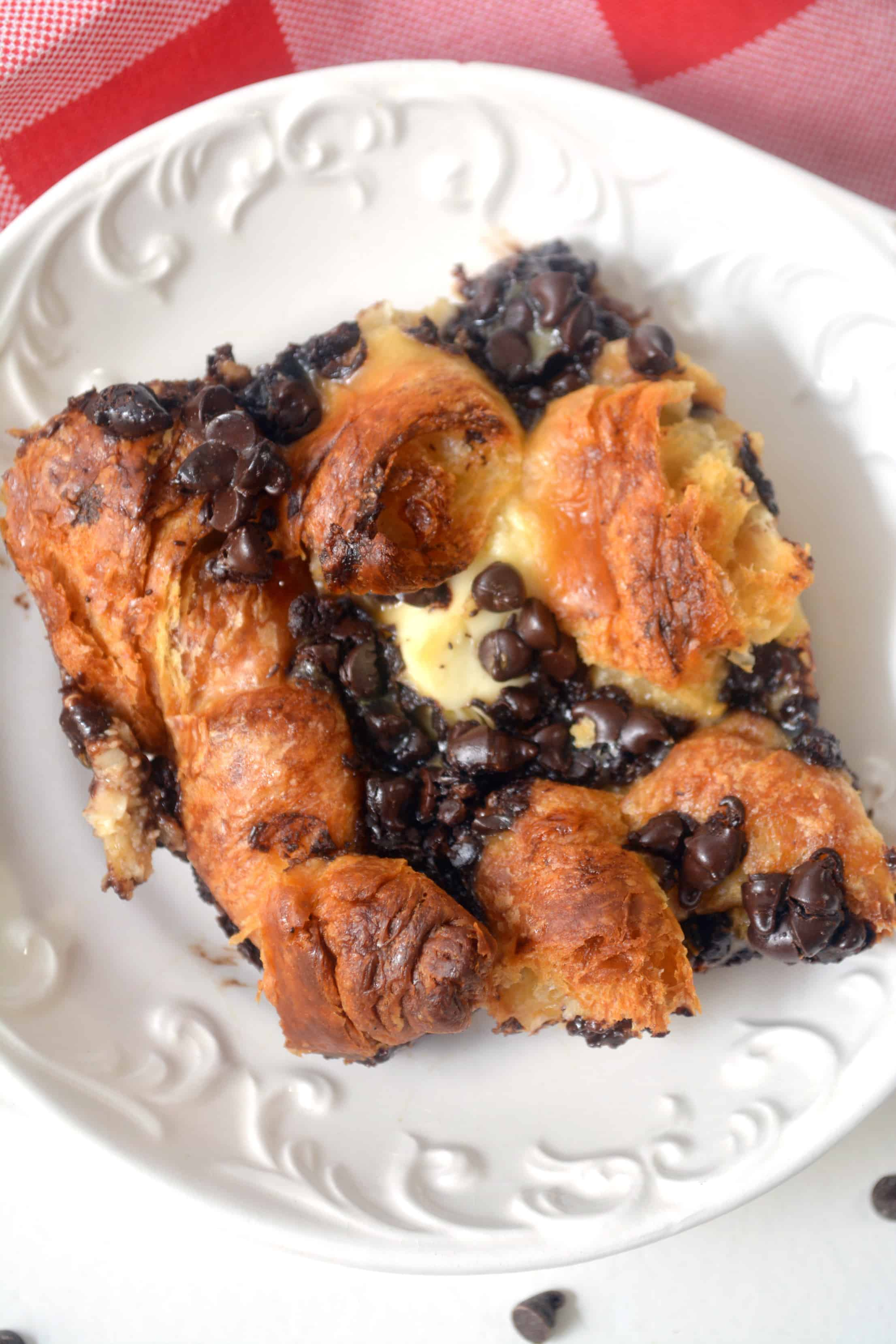 Sweet Breakfast Bake with Chocolate Croissants