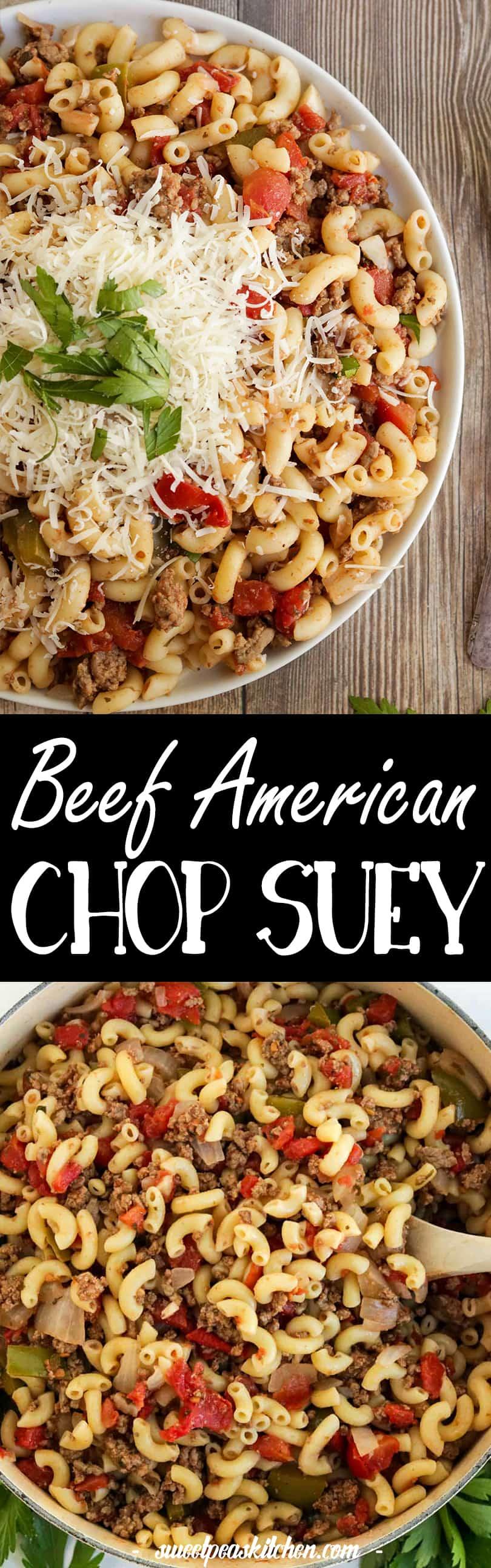 Beef American Chop Suey Recipe