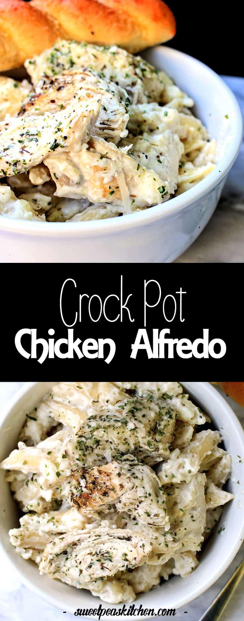 Best Crockpot Chicken Alfredo