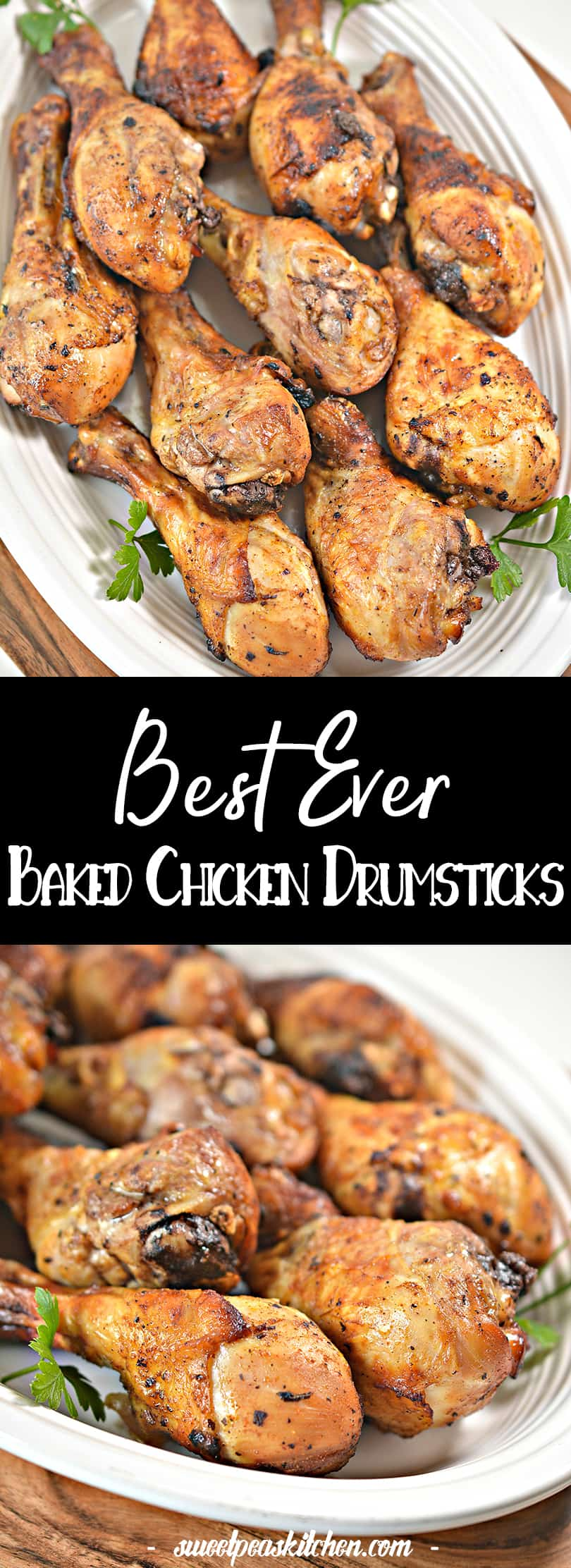 Brown Sugar Glazed Baked Chicken Drumsticks