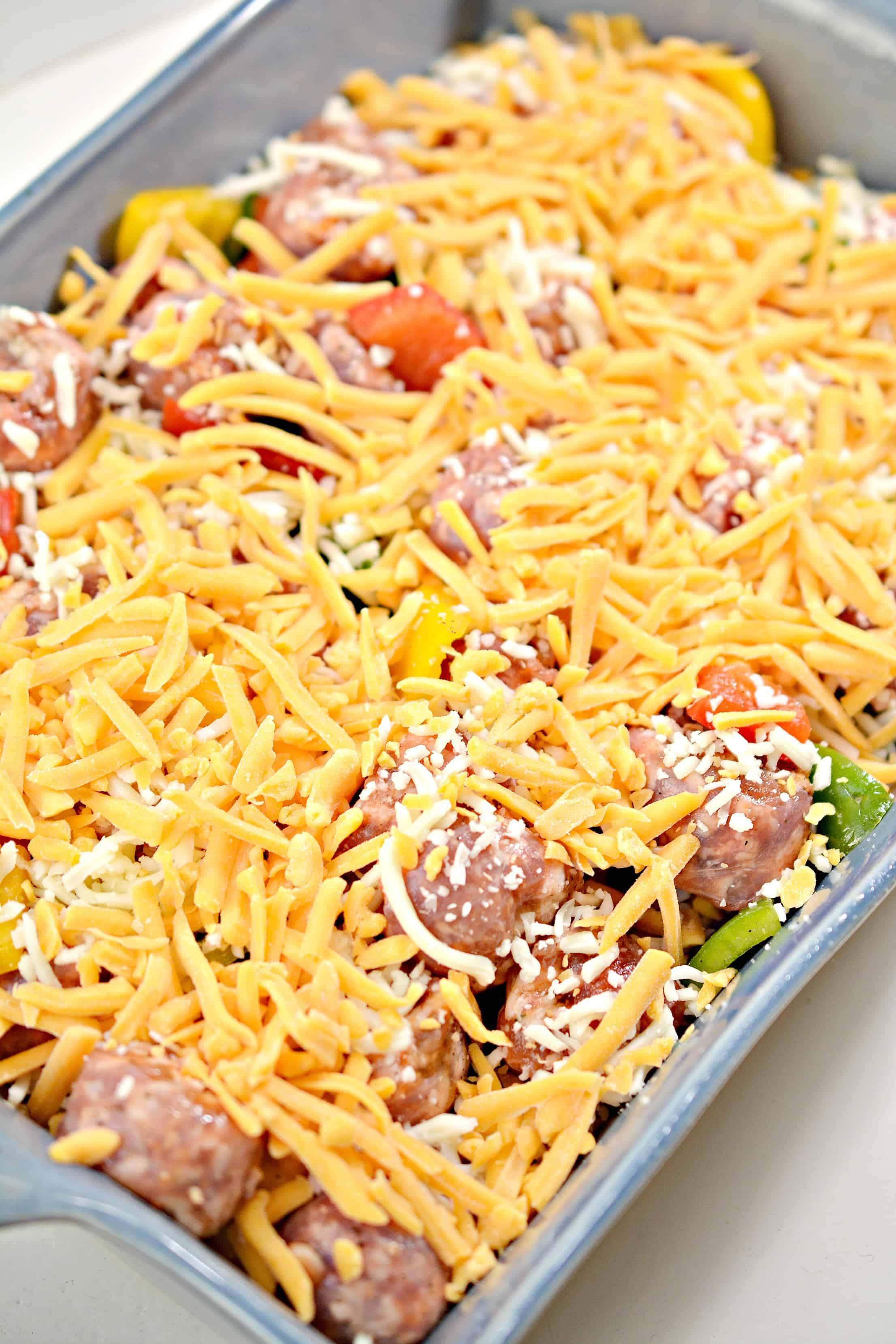 sausage, peppers and cheese