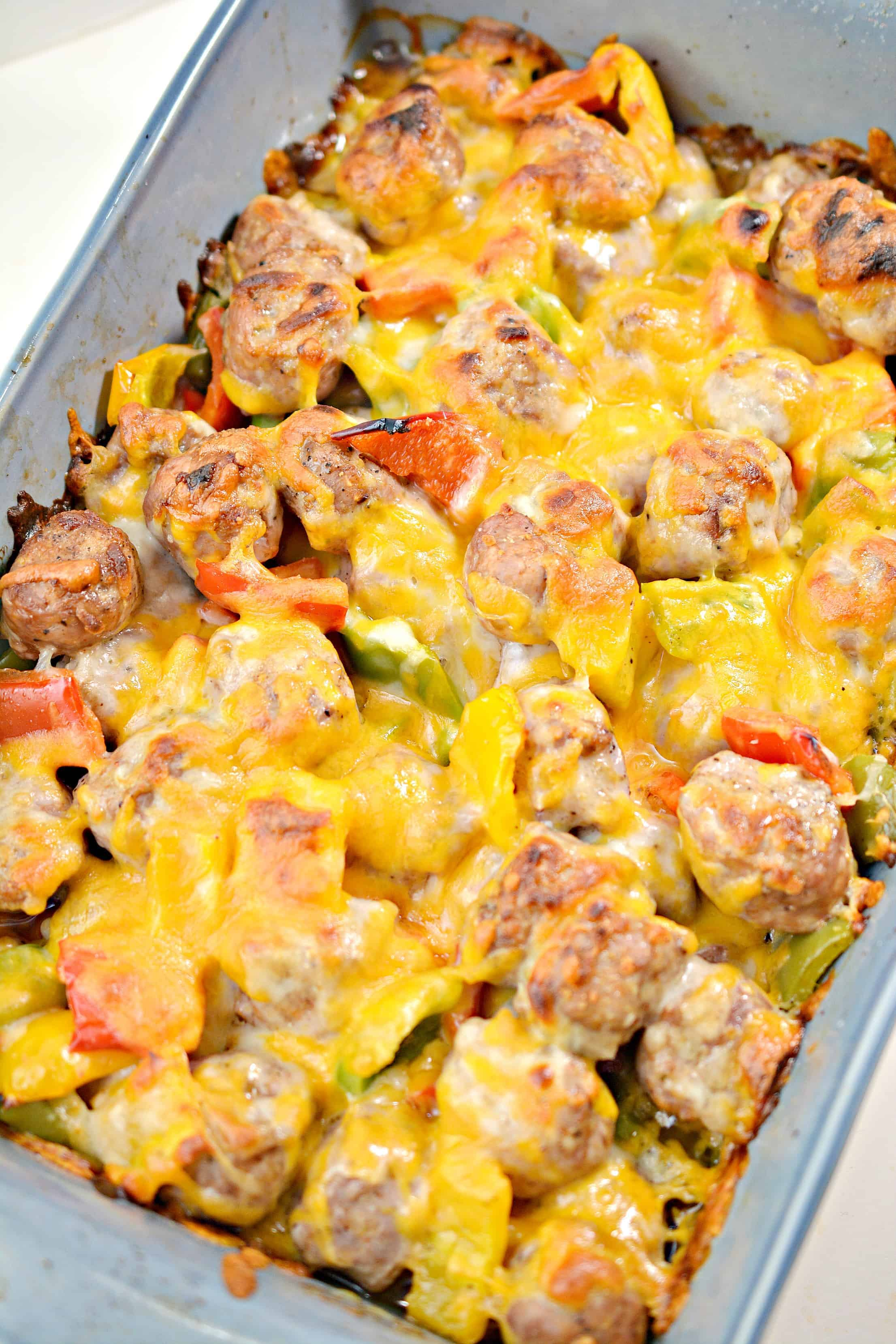sausage and peppers bake