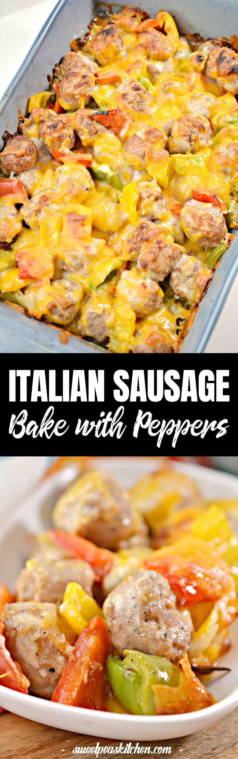 Cheesy Italian Sausage Bake with Peppers