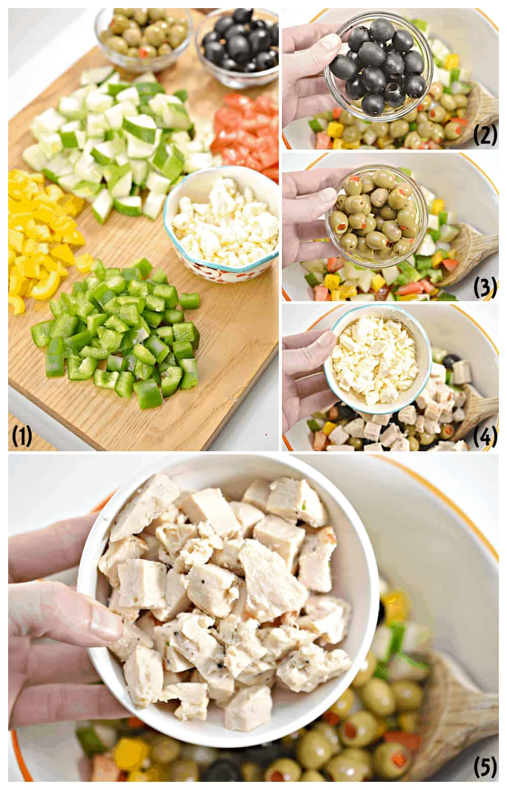 how to make Chopped Greek Salad Recipe with Grilled Chicken