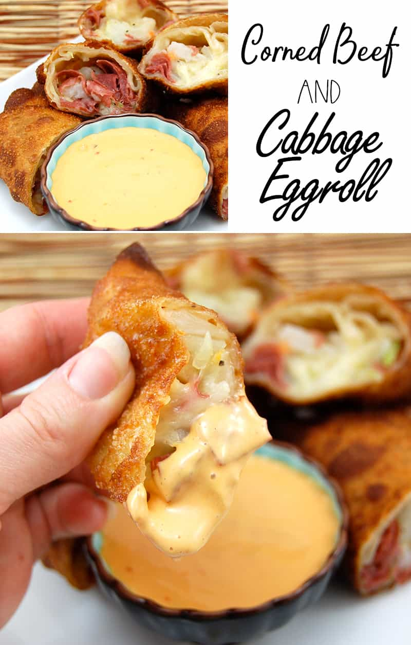 Corned Beef and Cabbage Eggroll Appetizer