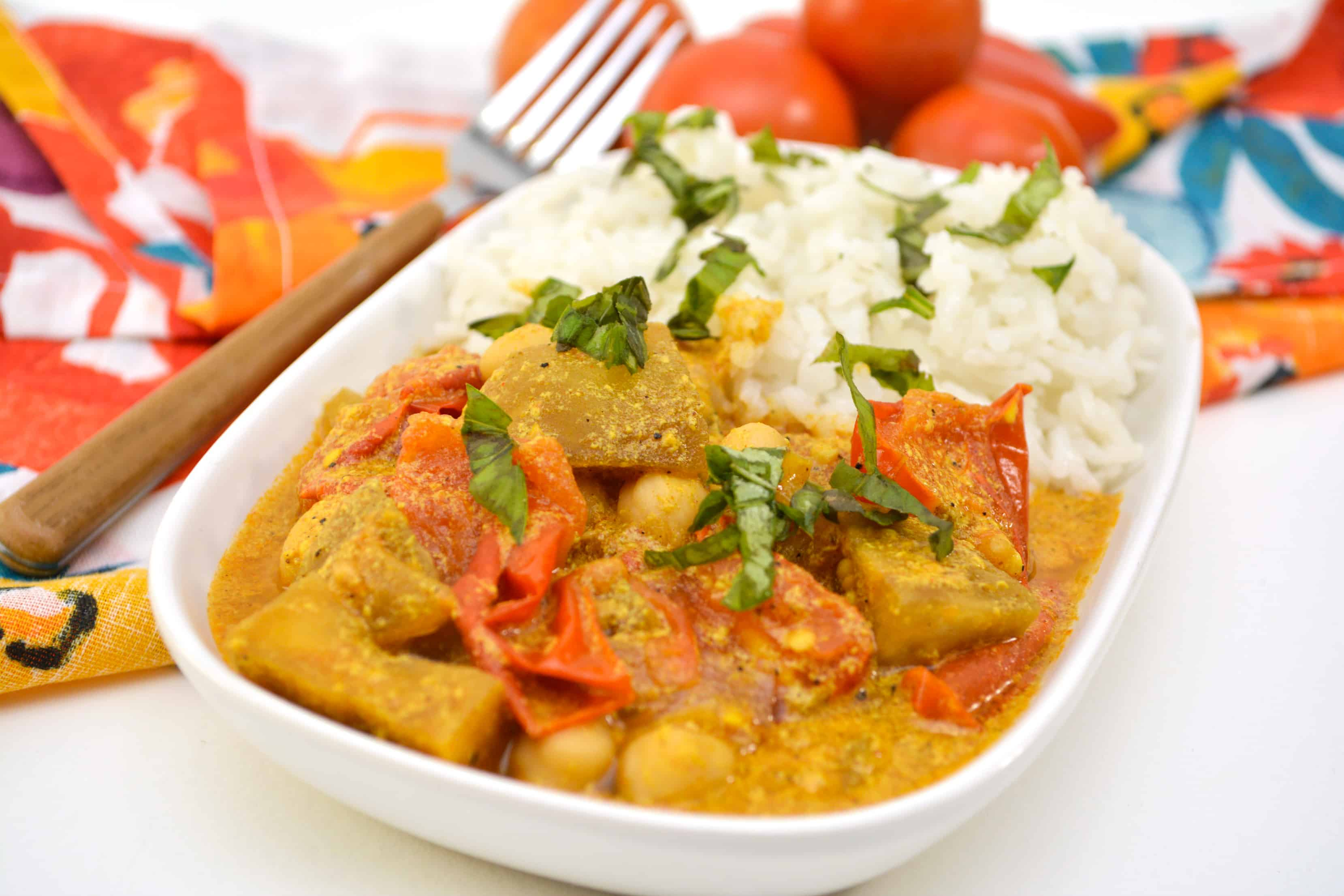 Eggplant Curry with Chickpeas