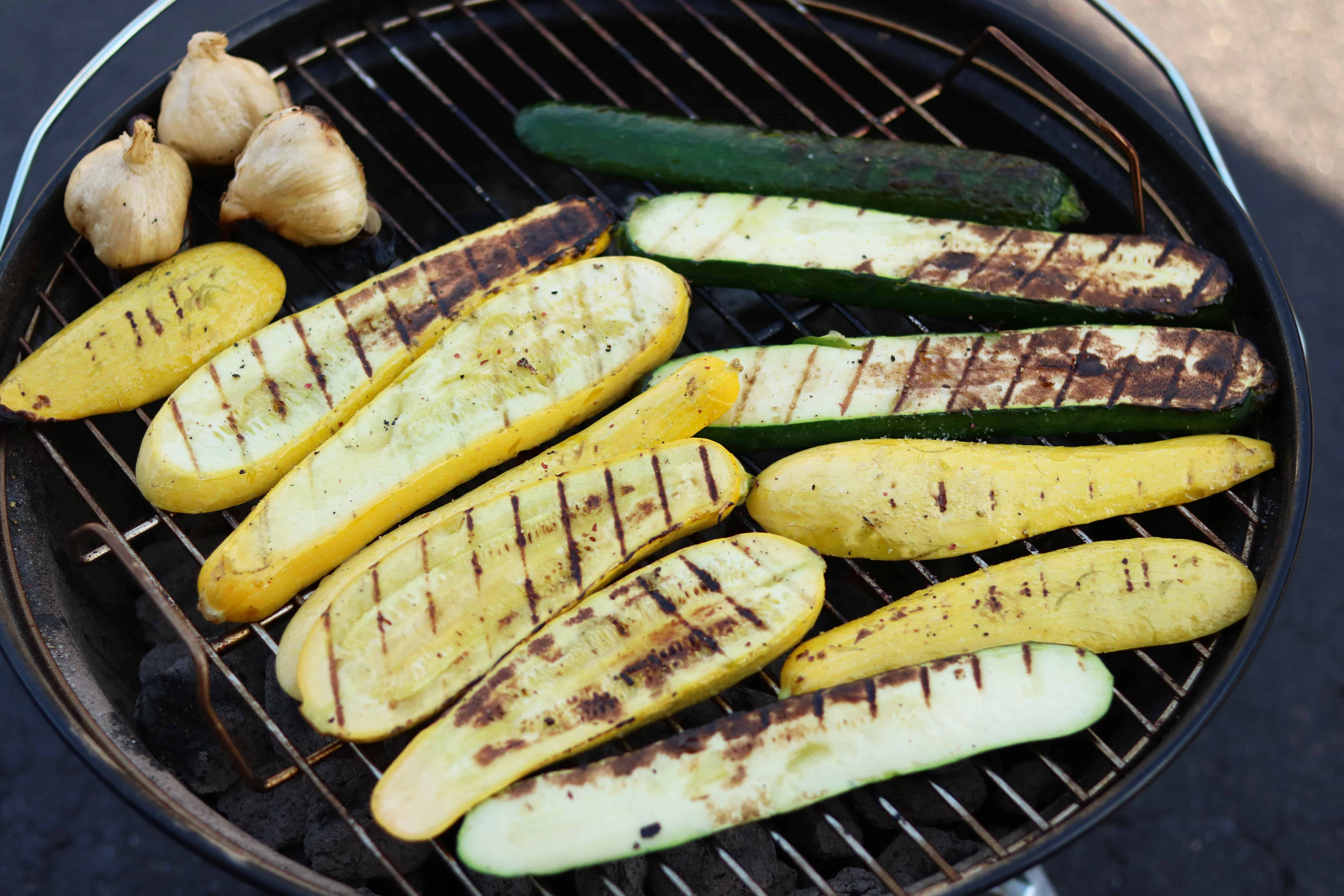 grilled veggies on the grill