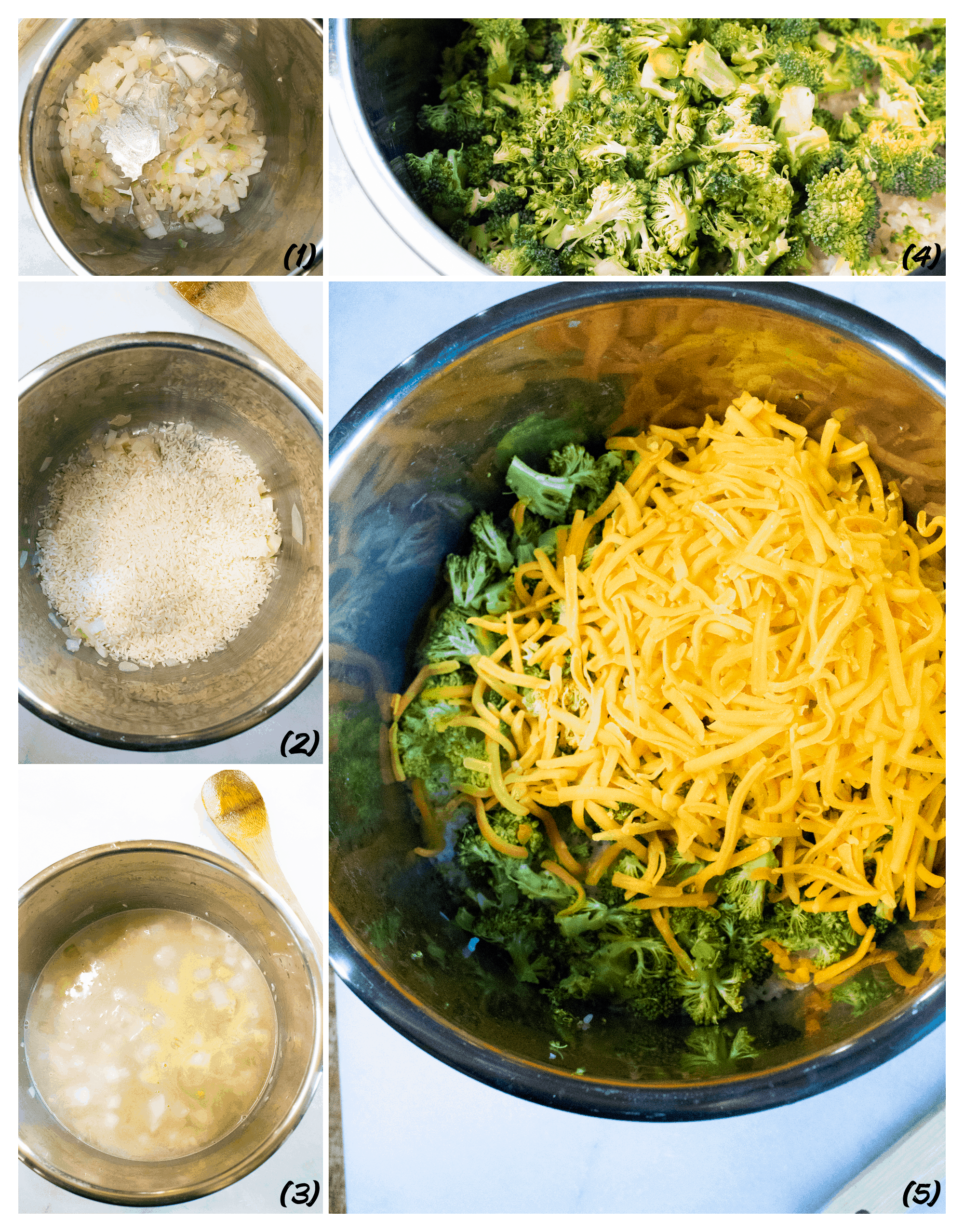 how to make Instant Pot Broccoli and Rice Casserole