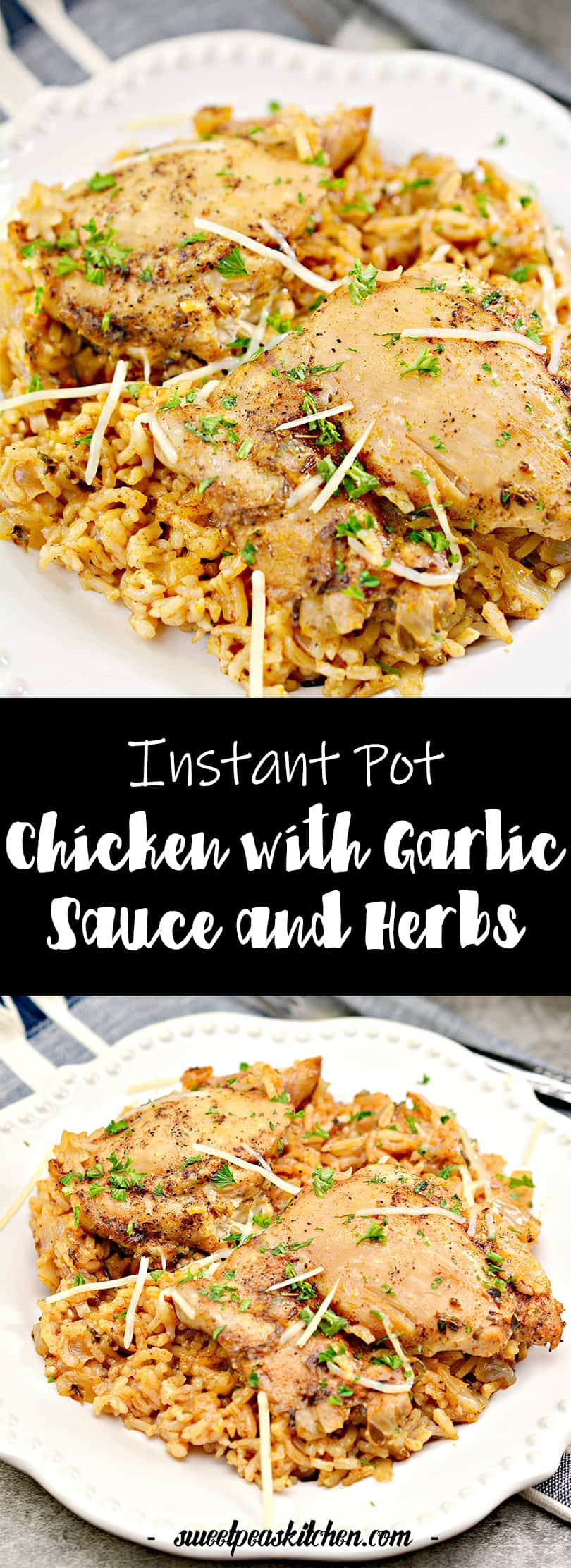 Instant Pot Chicken with Garlic Sauce and Herbs