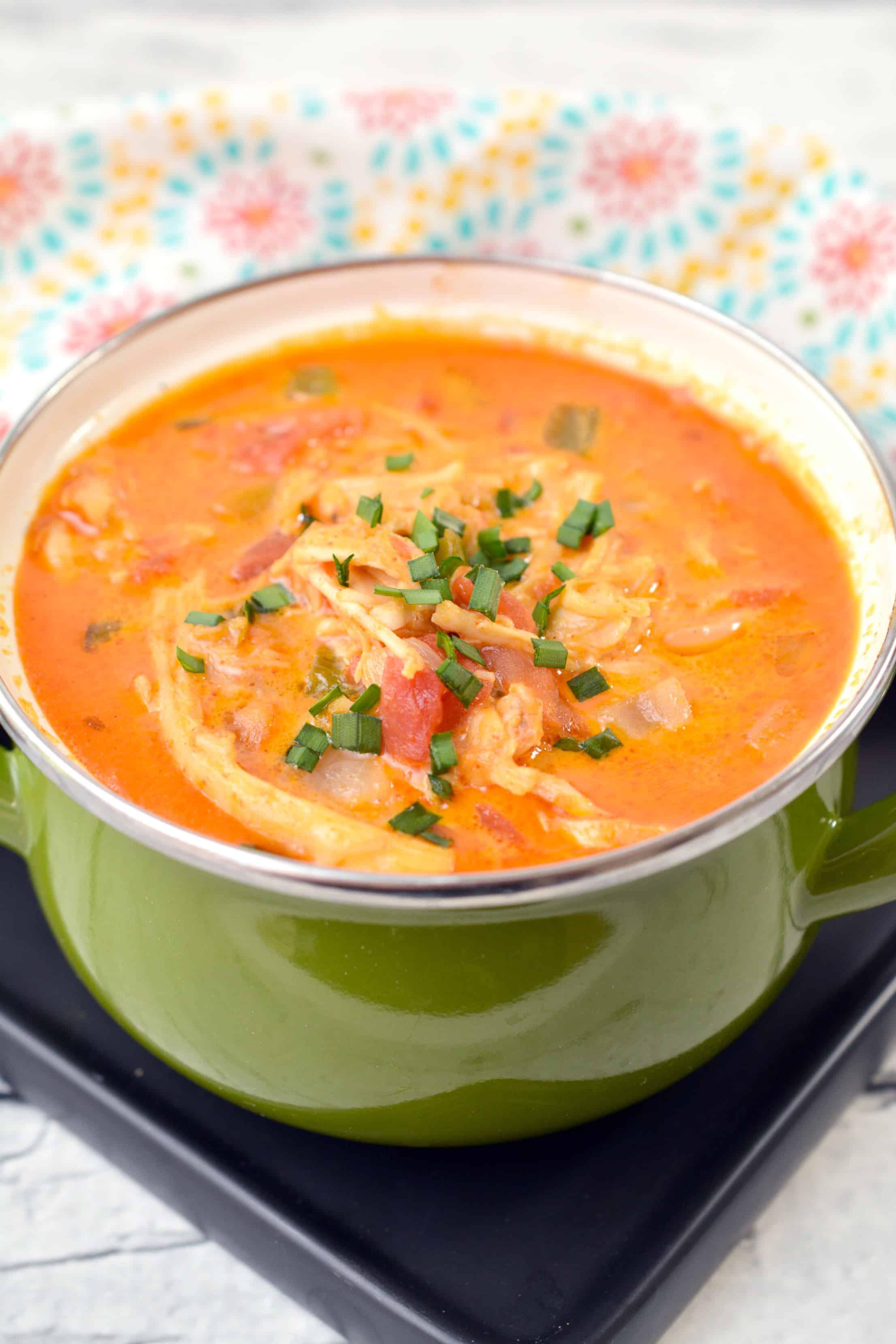 Low Carb Chicken Enchilada Soup