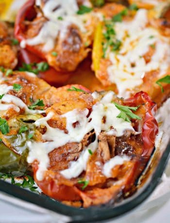 Parmesan Chicken Stuffed Peppers Recipe