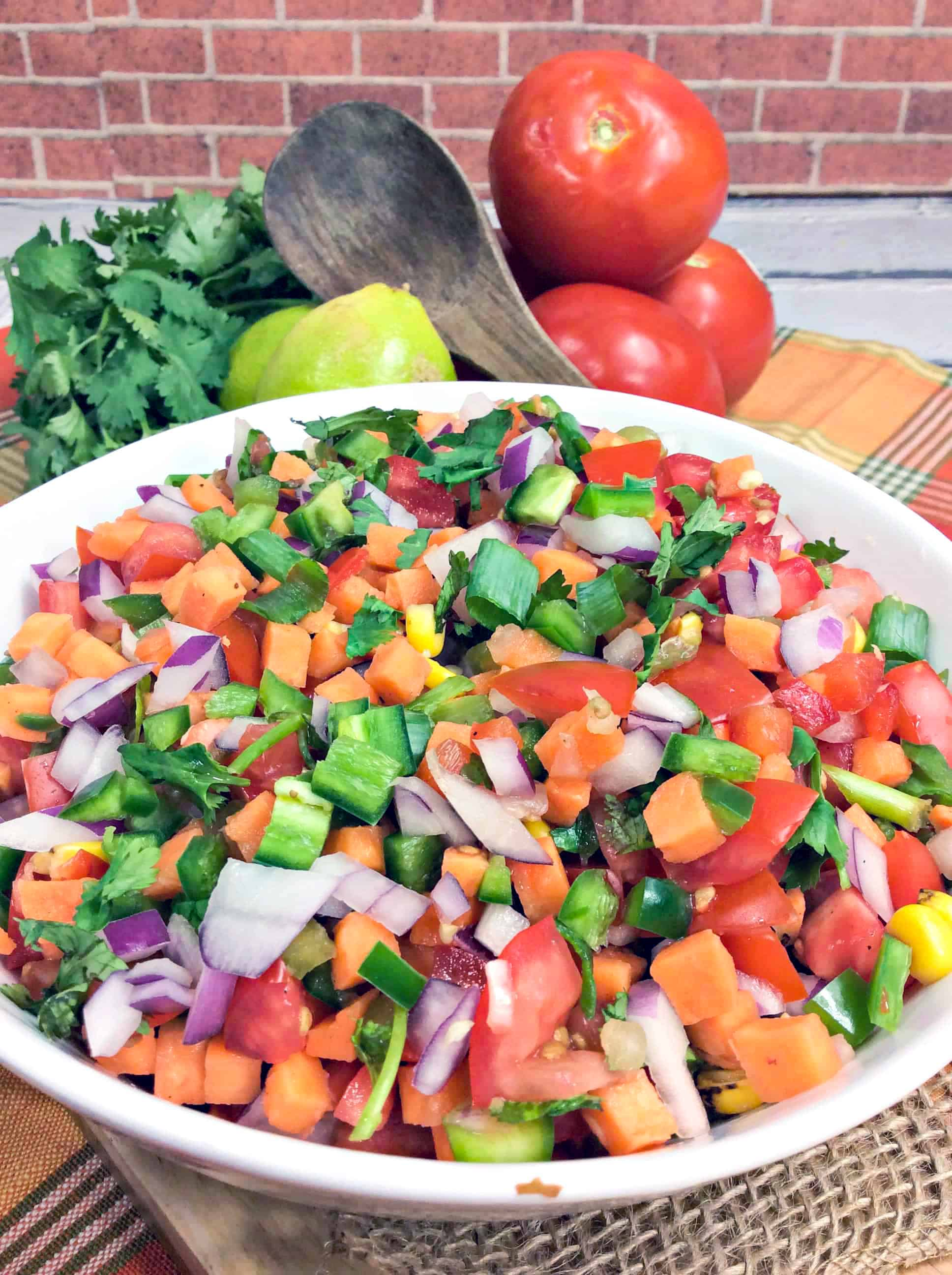 pico de gallo salsa in a bowl