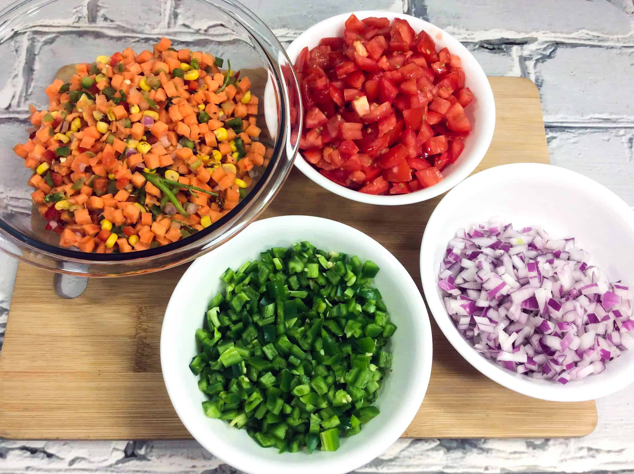 pico de gallo salsa with sweet potatoes ingredients
