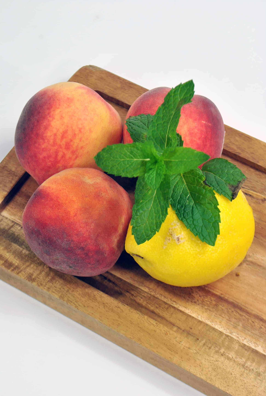 peaches and lemon
