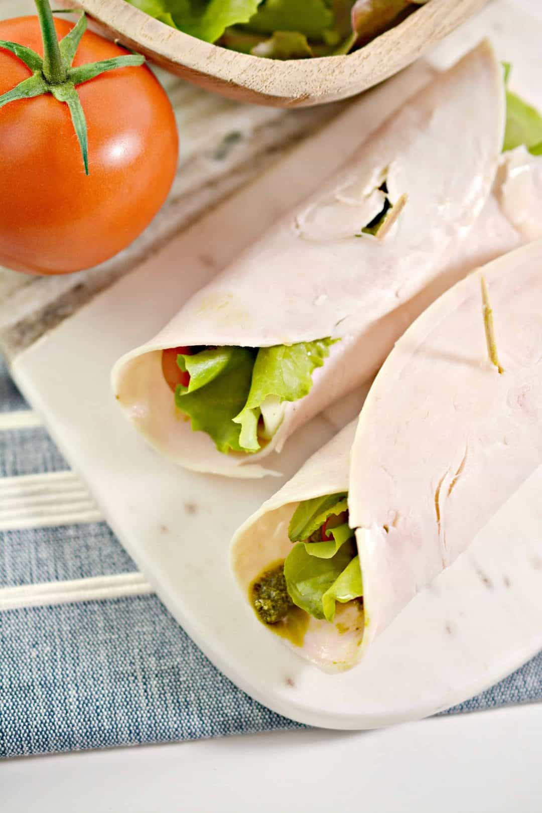 Turkey Roll Up with Pesto