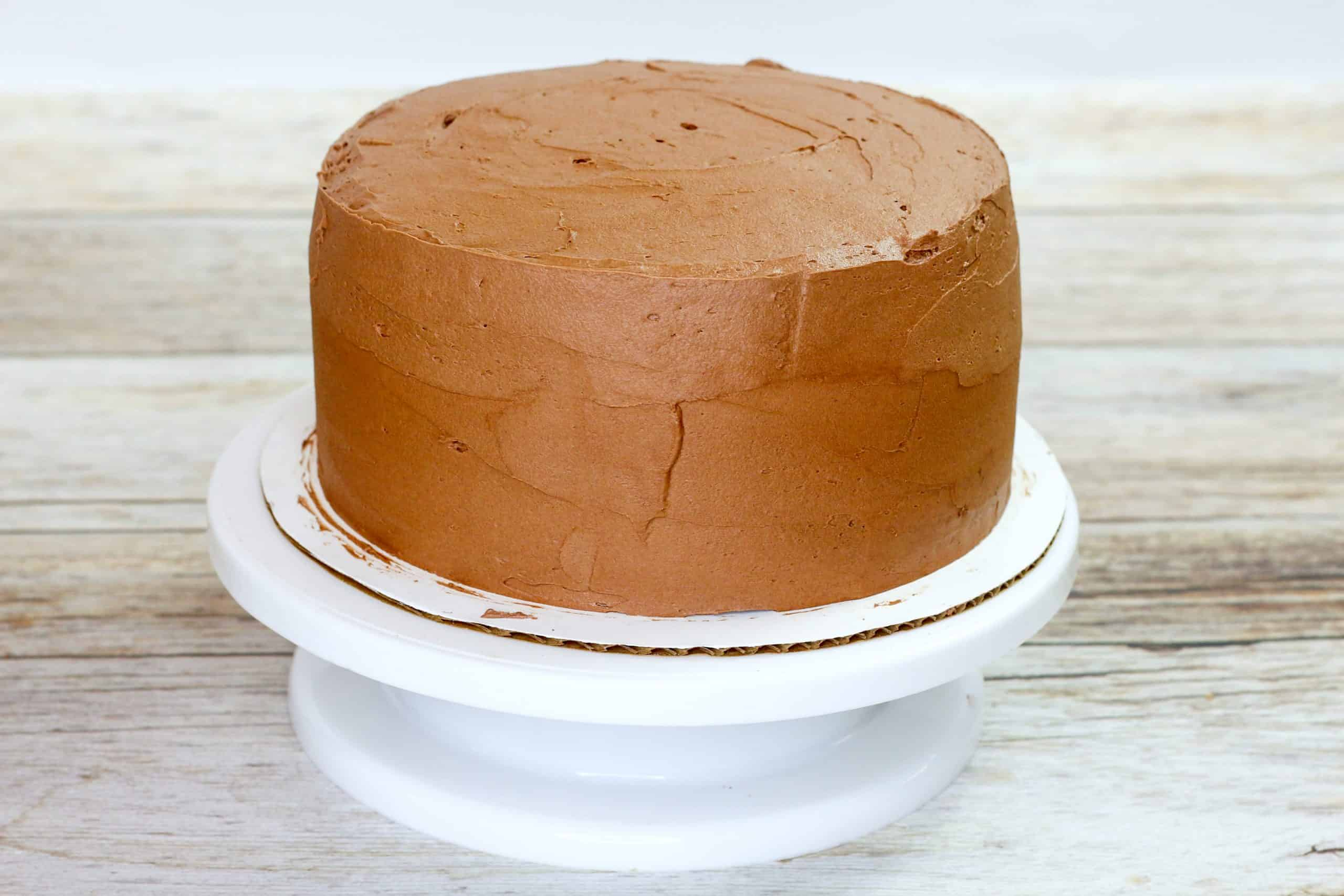 frosted cocolate cake