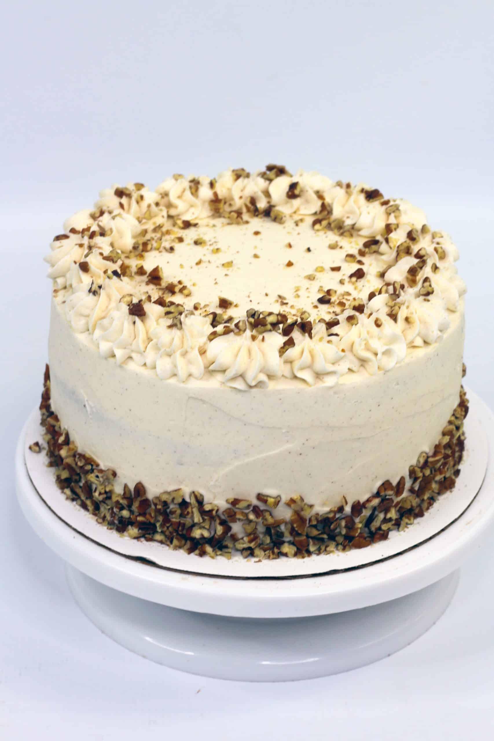 ready to serve praline cake