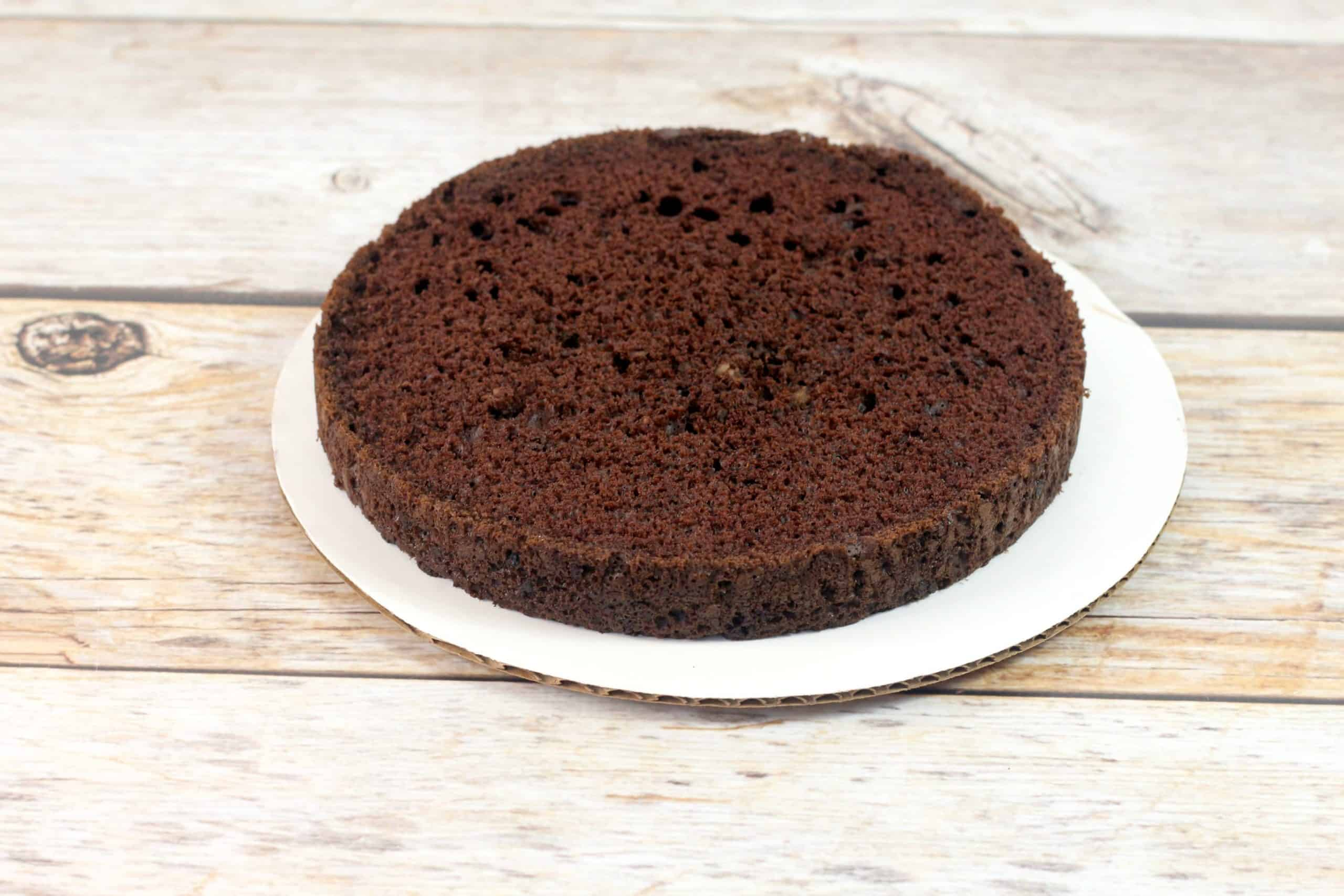 trimmed chocolate cake
