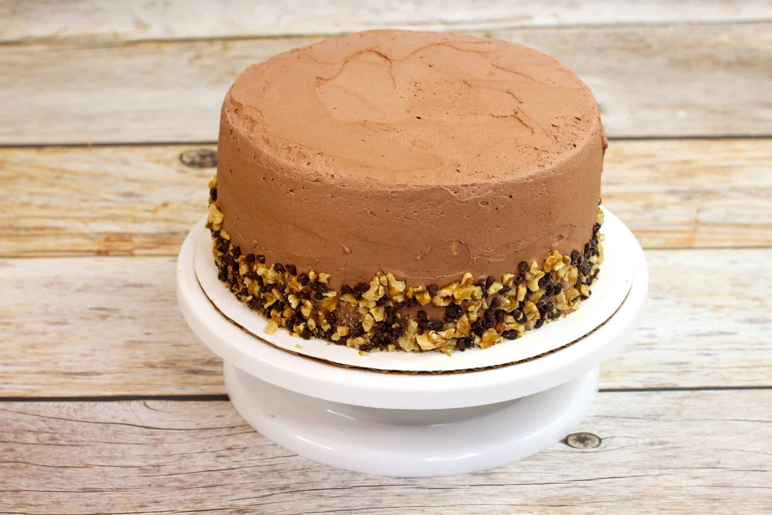 chocolate fudge cake with walnuts