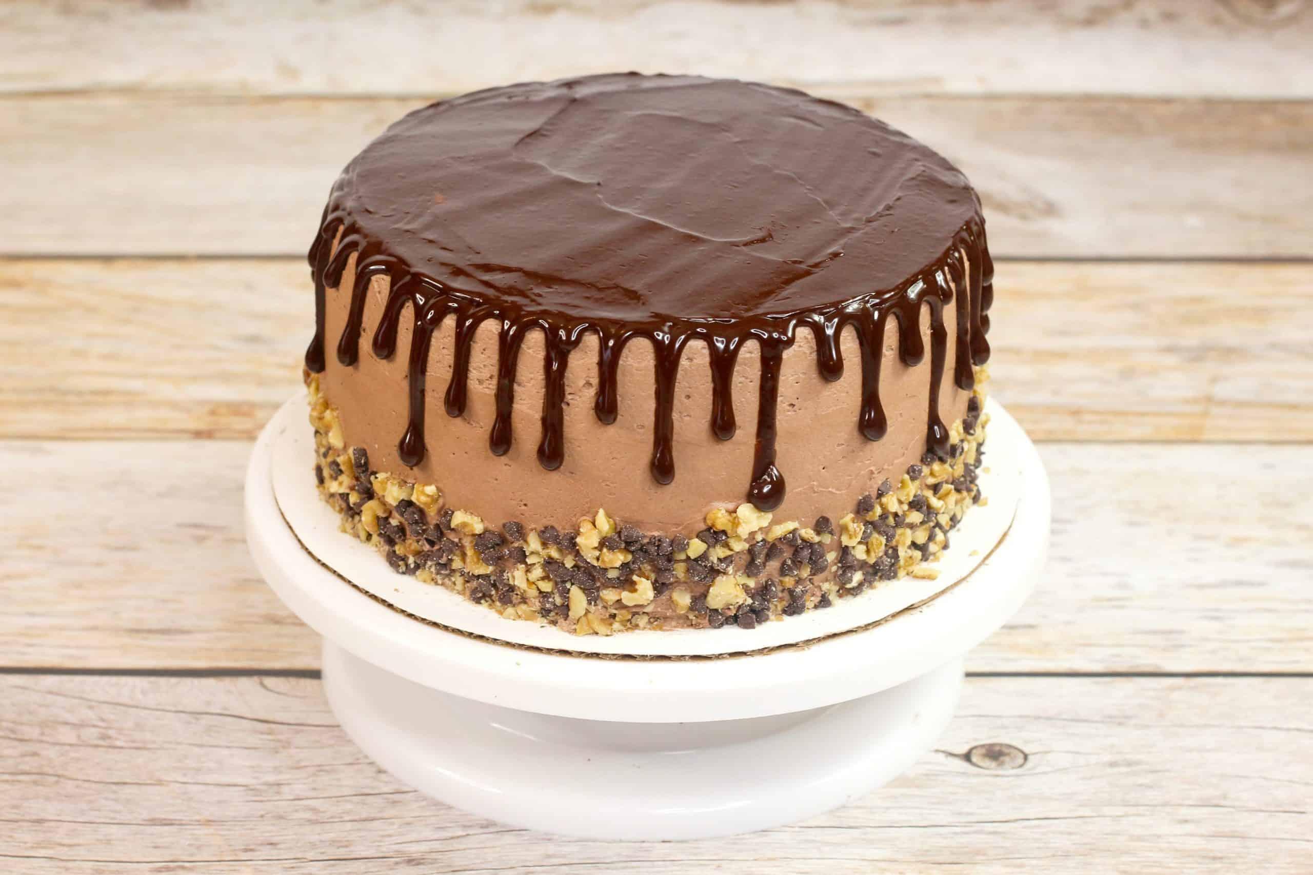 chocolate fudge cake with ganache