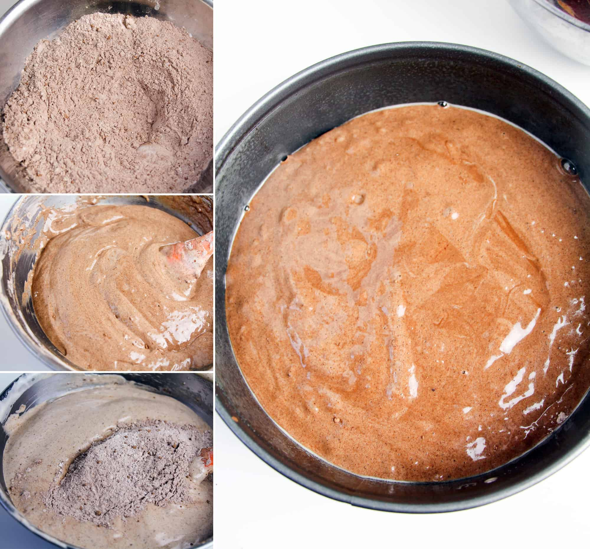 making cake mix