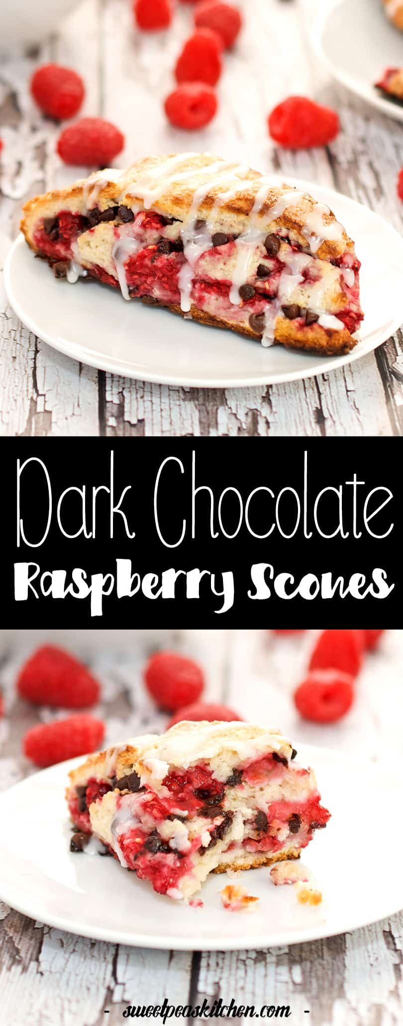 Dark Chocolate Raspberry Scones