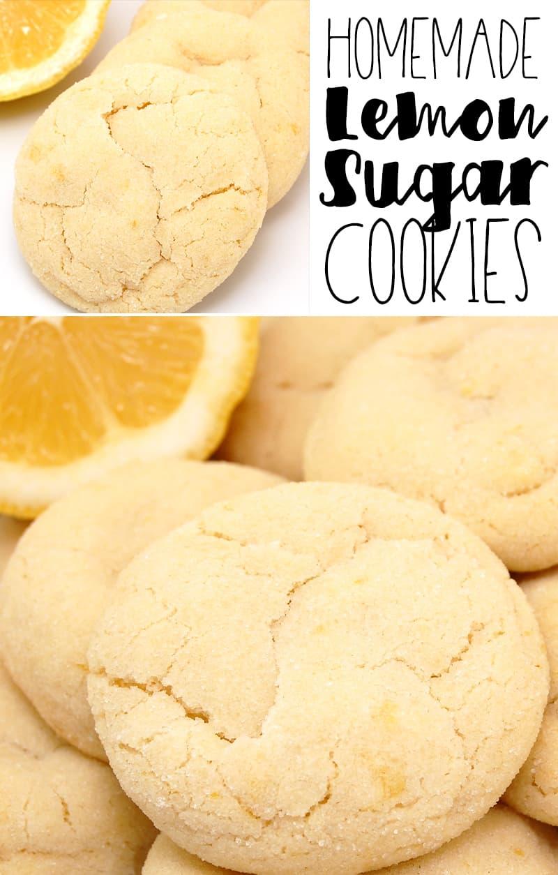 Soft Homemade Lemon Sugar Cookies
