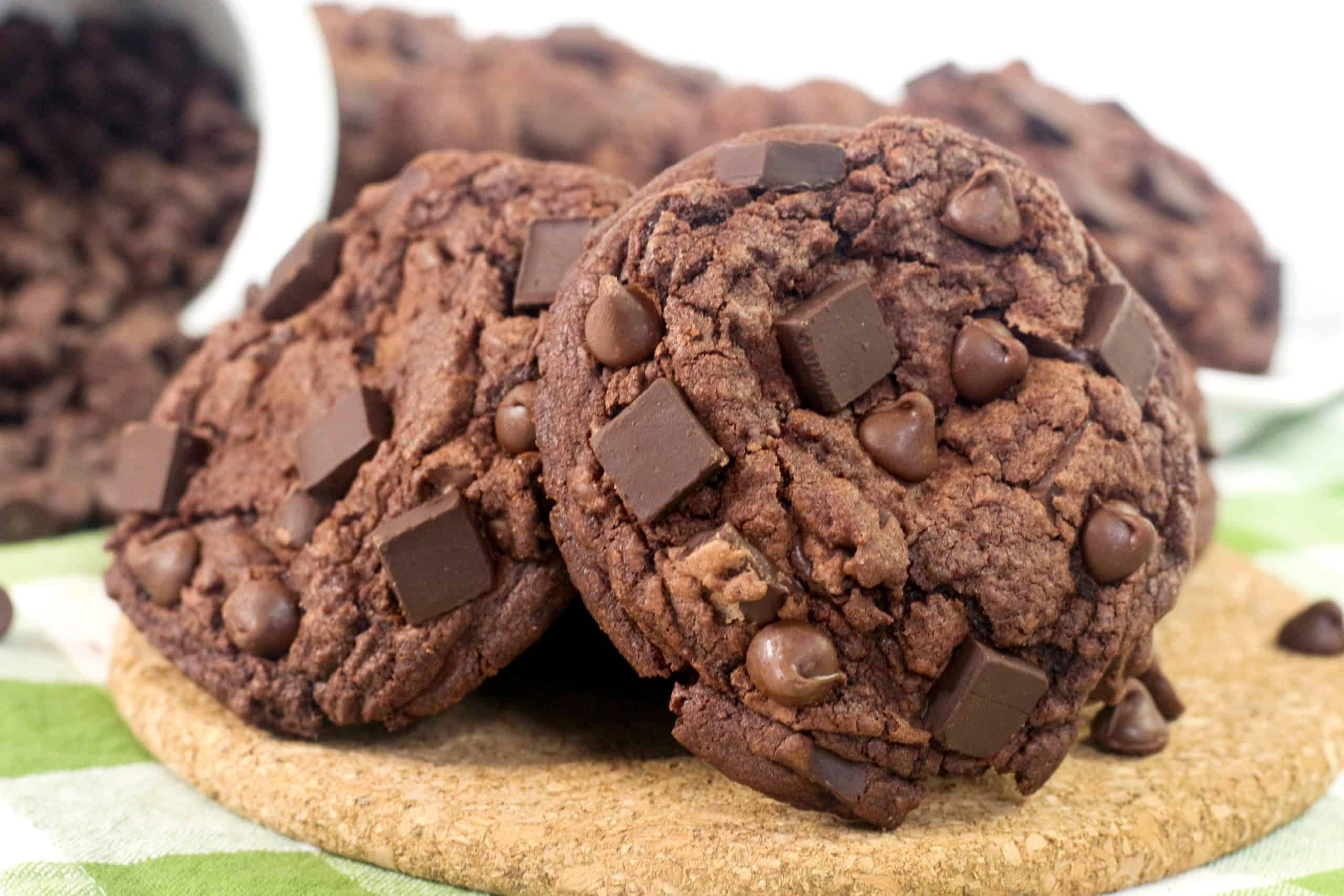 ready to serve double chocolate chip cookies