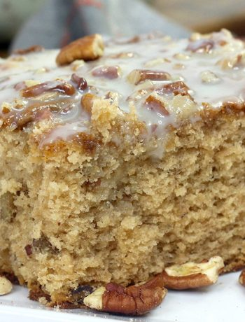 slice of southern pecan cake