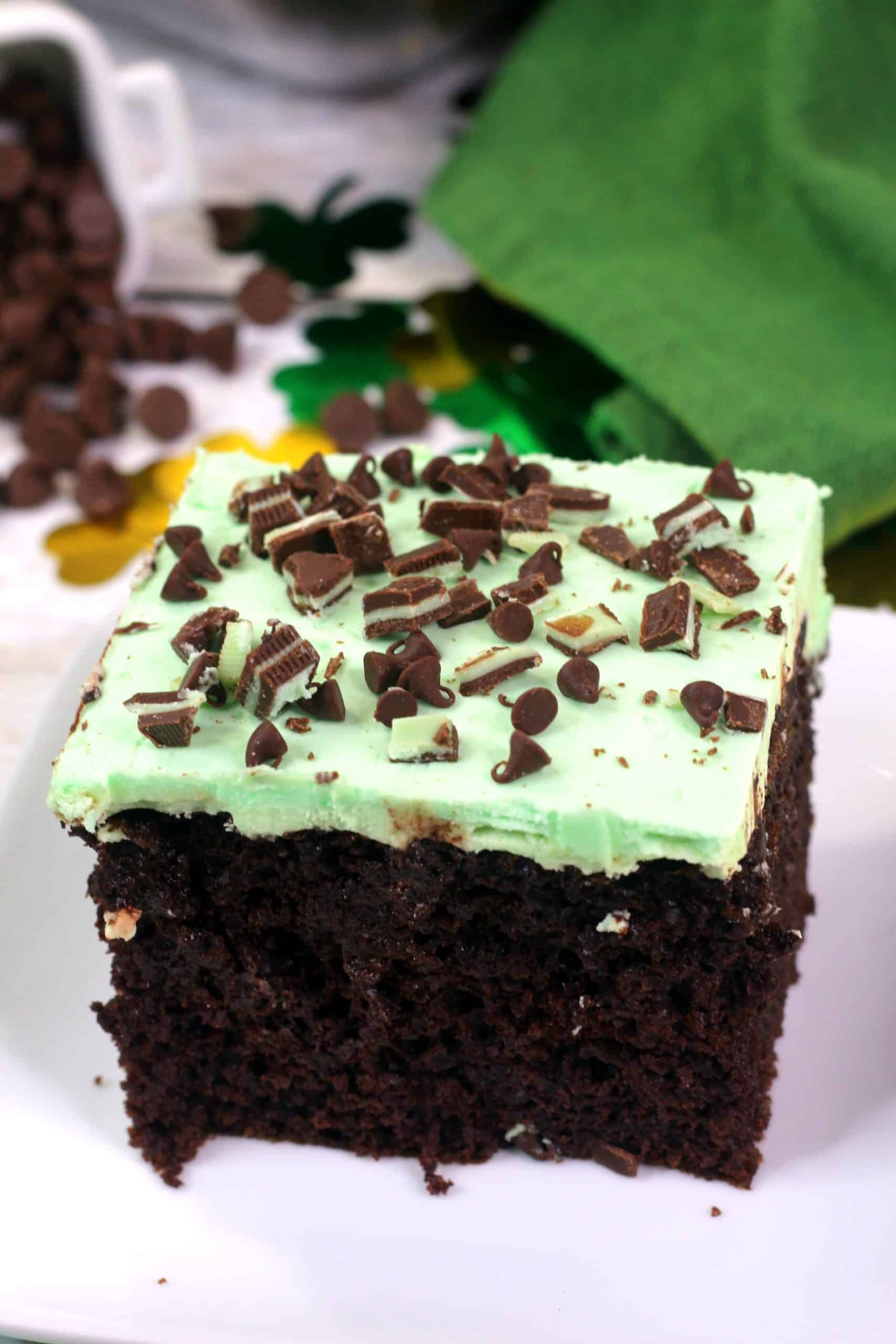 Andes Mint Chocolate Poke Cake Recipe