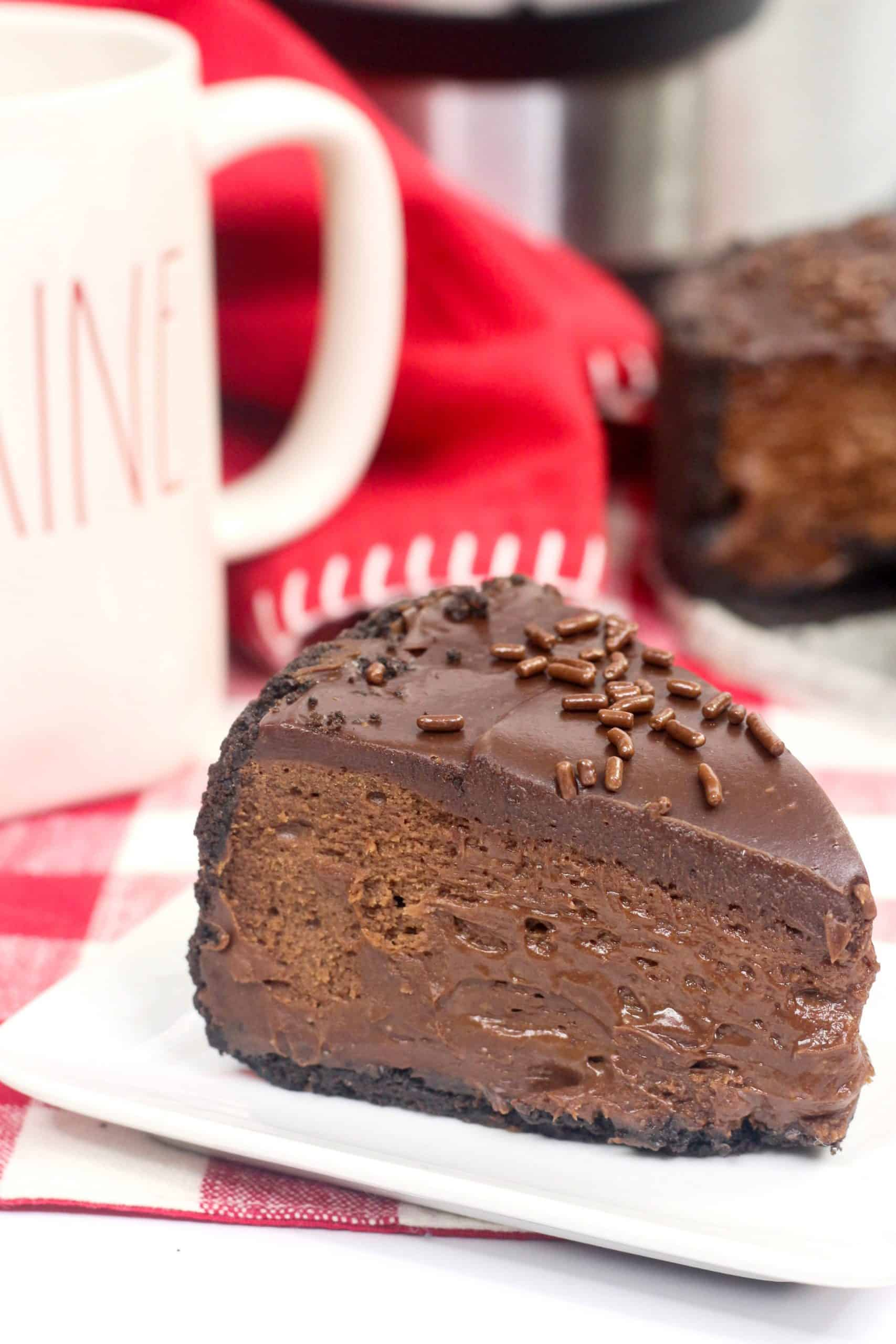 Triple Chocolate Instant Pot Cheesecake Recipe