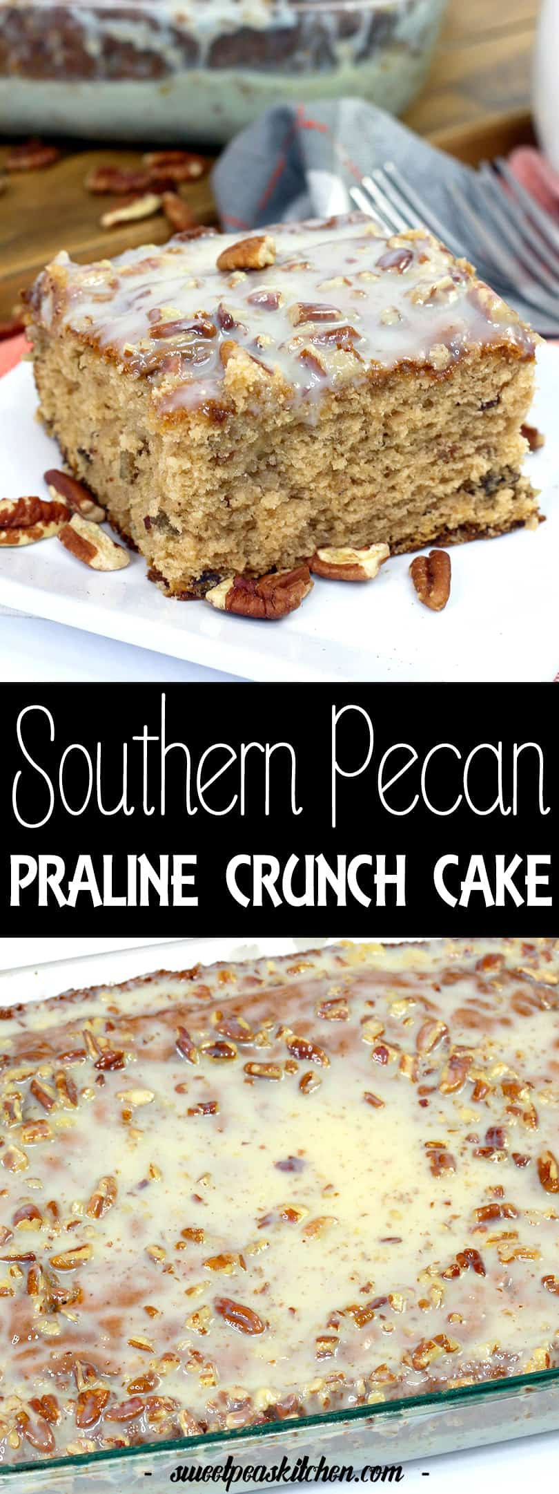 Southern Butter Pecan Praline Cake Recipe