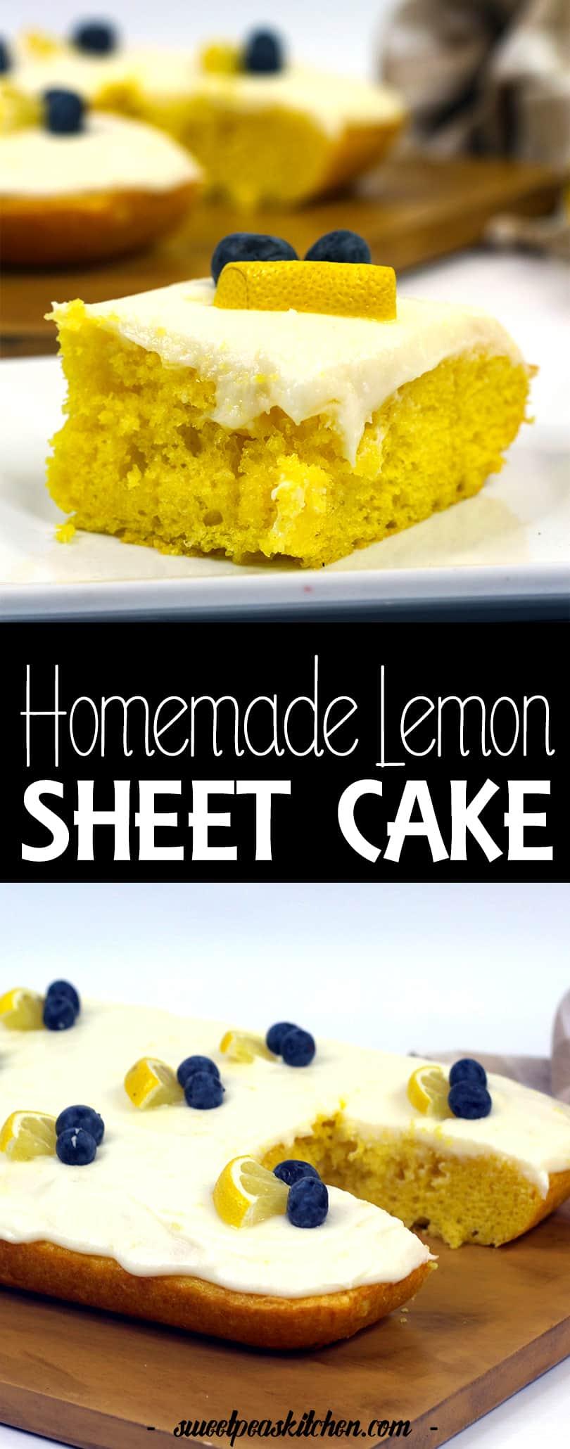 Easy Homemade Lemon Sheet Cake Recipe