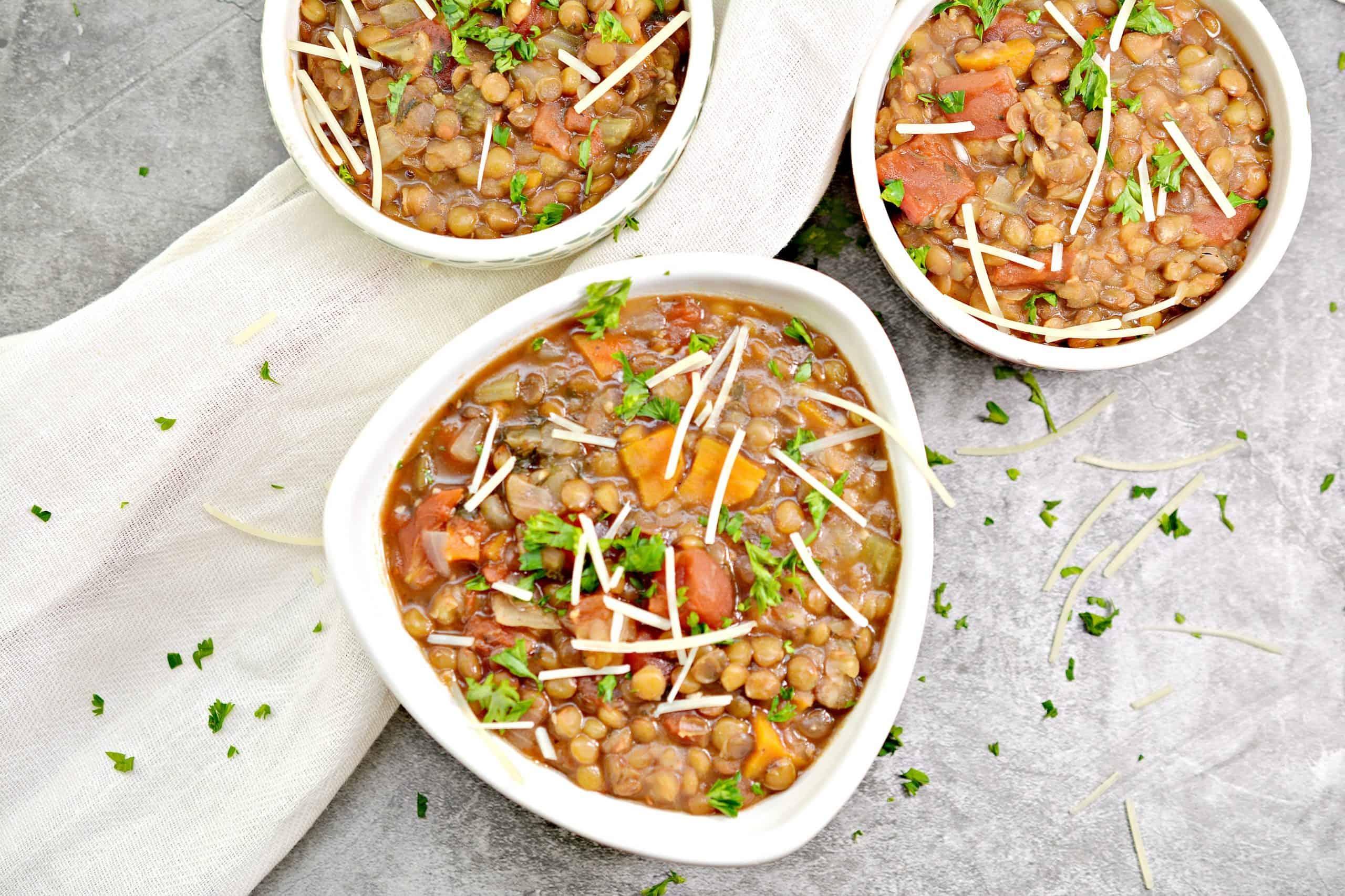 ready to serve brown lentil soup