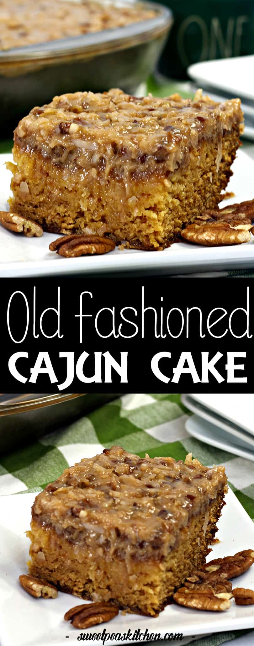 old fashioned cake on plat
